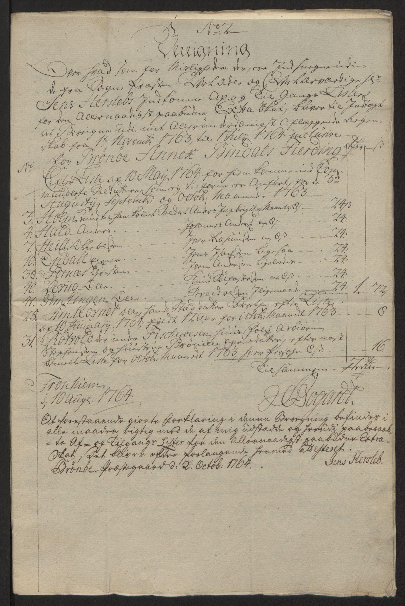 RA, Rentekammeret inntil 1814, Reviderte regnskaper, Fogderegnskap, R64/L4502: Ekstraskatten Namdal, 1762-1772, s. 150