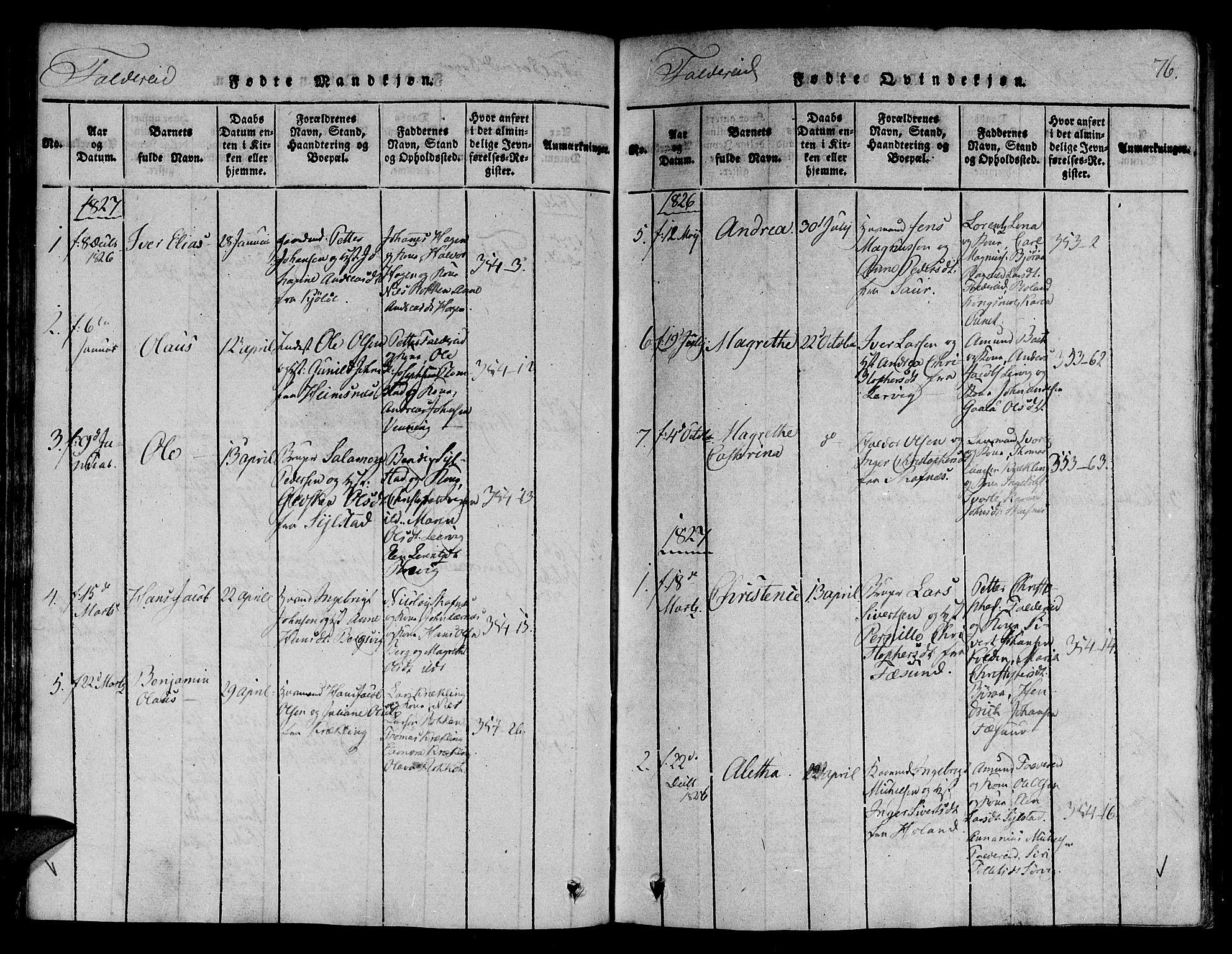 SAT, Ministerialprotokoller, klokkerbøker og fødselsregistre - Nord-Trøndelag, 780/L0636: Ministerialbok nr. 780A03 /3, 1815-1829, s. 76