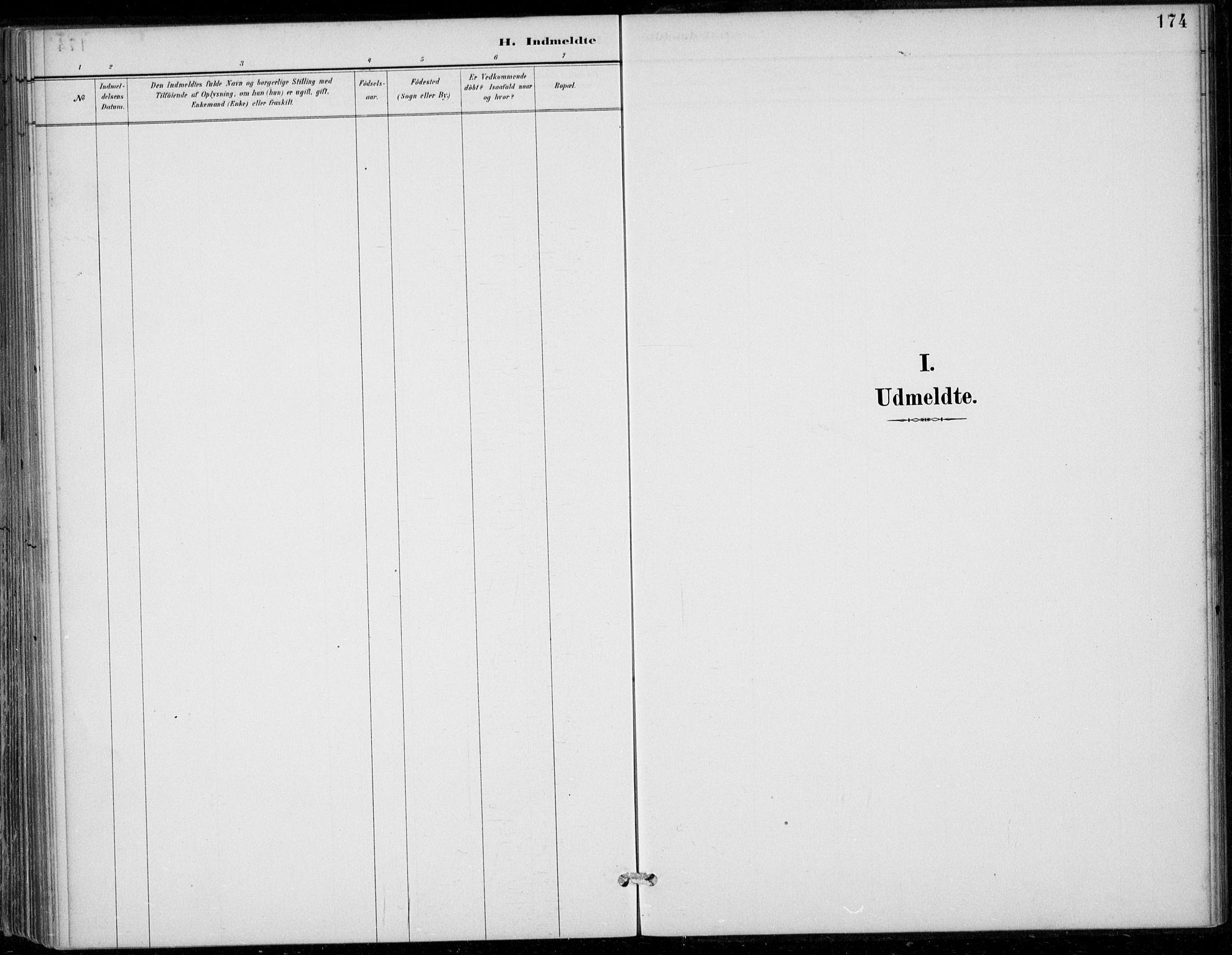 SAB, Strandebarm sokneprestembete, H/Haa: Ministerialbok nr. D  1, 1886-1912, s. 174