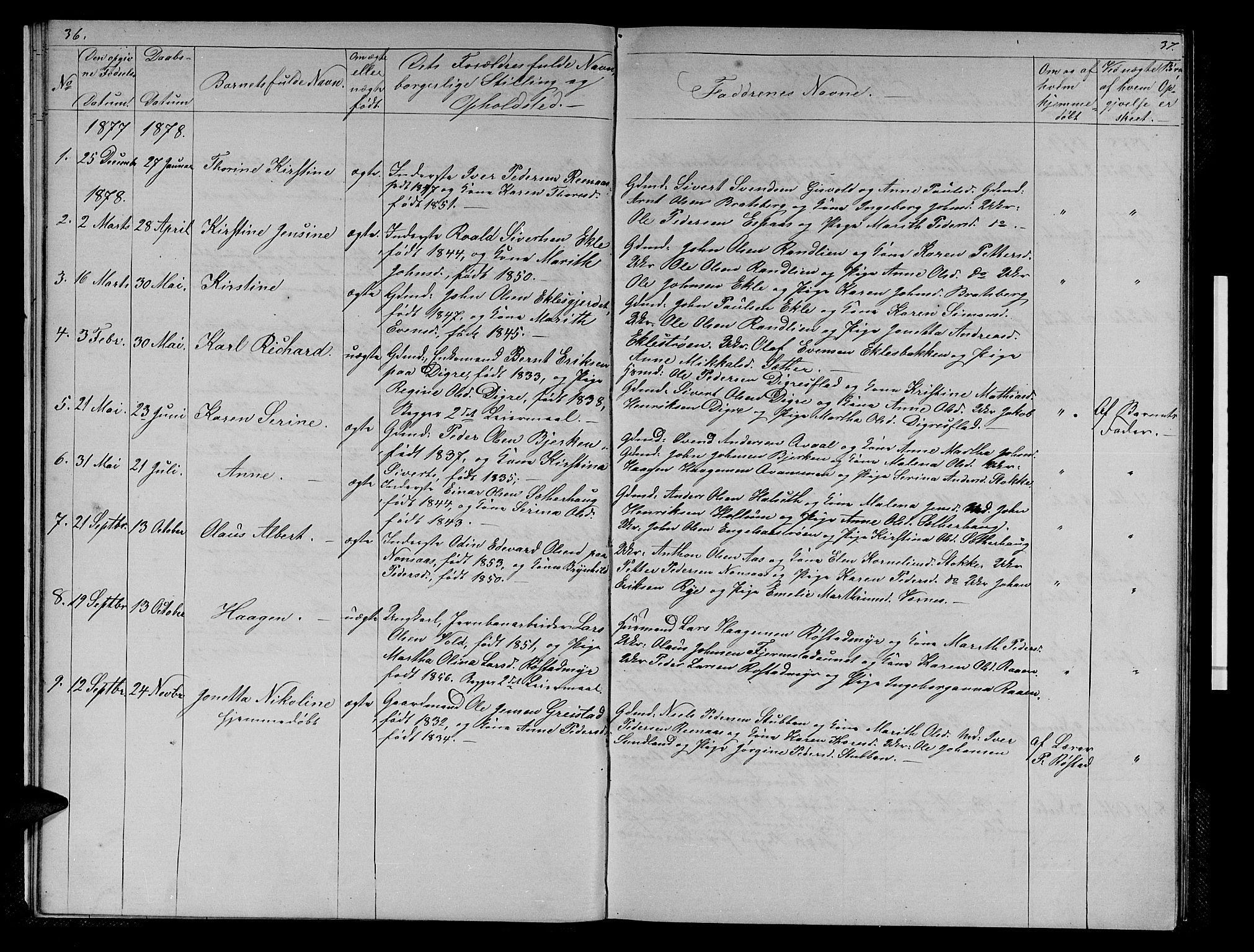 SAT, Ministerialprotokoller, klokkerbøker og fødselsregistre - Sør-Trøndelag, 608/L0340: Klokkerbok nr. 608C06, 1864-1889, s. 36-37