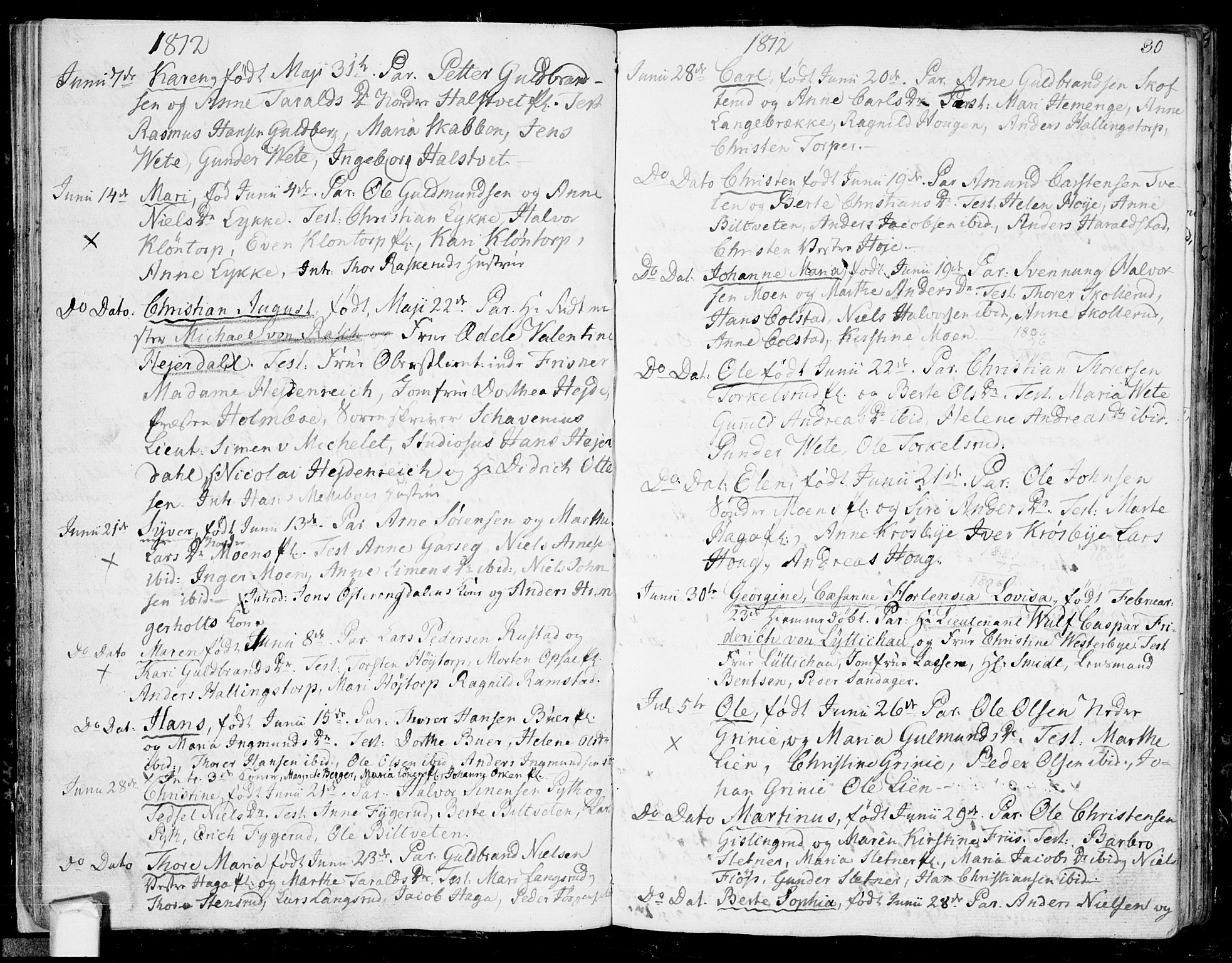 SAO, Eidsberg prestekontor Kirkebøker, F/Fa/L0006: Ministerialbok nr. I 6, 1807-1814, s. 30