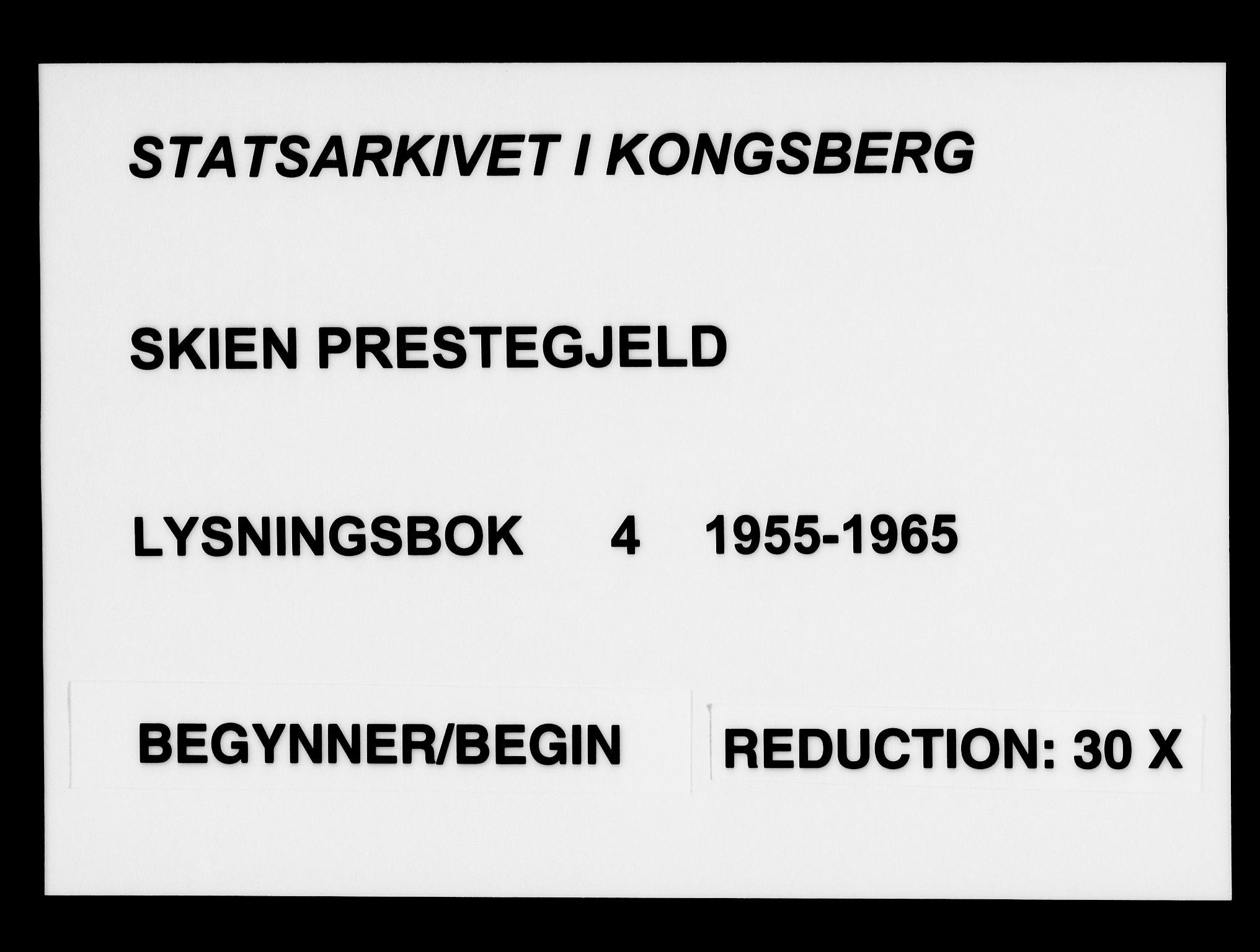 SAKO, Skien kirkebøker, H/Ha/L0004: Lysningsprotokoll nr. 4, 1955-1965