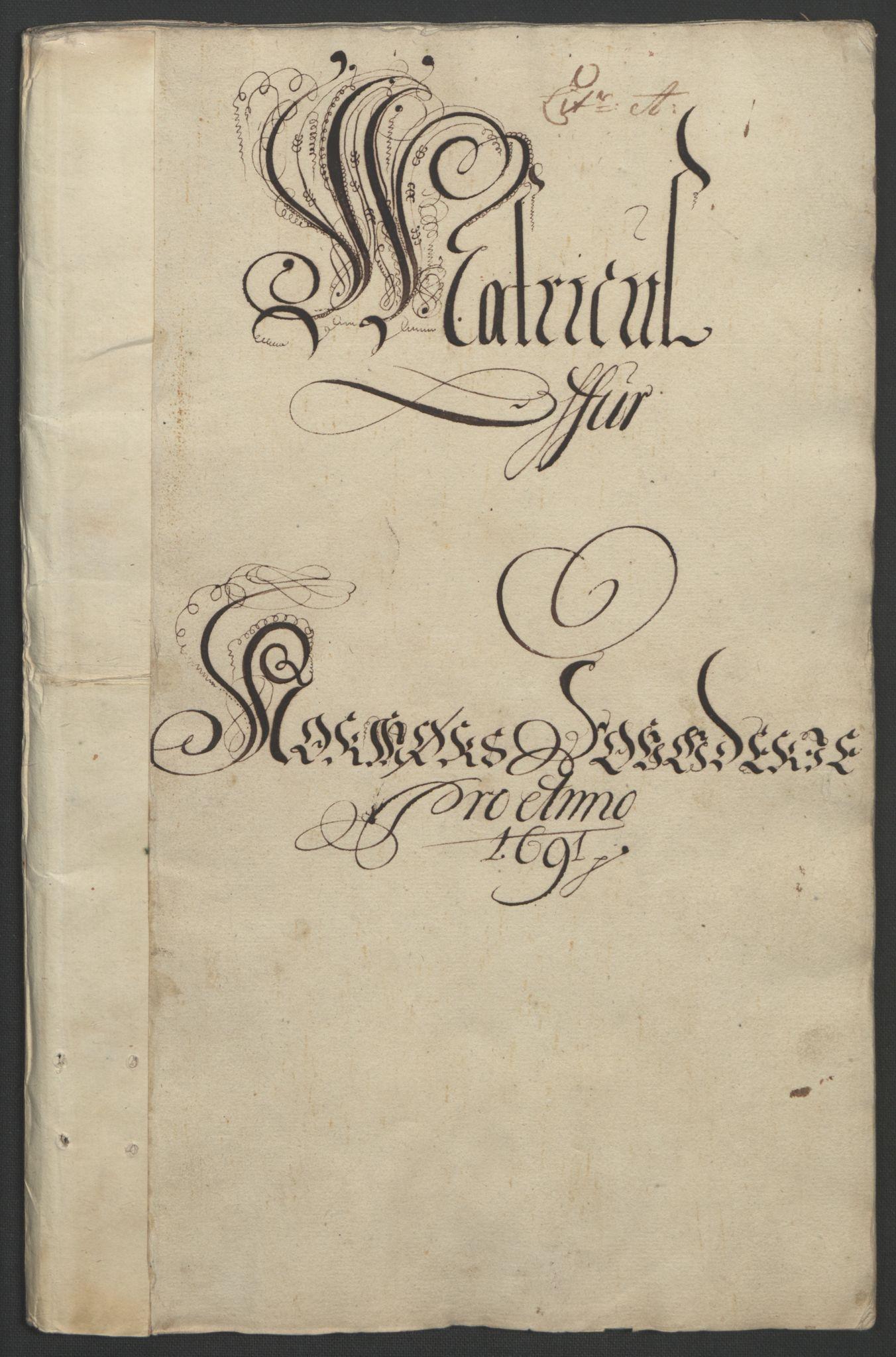 RA, Rentekammeret inntil 1814, Reviderte regnskaper, Fogderegnskap, R56/L3734: Fogderegnskap Nordmøre, 1690-1691, s. 228