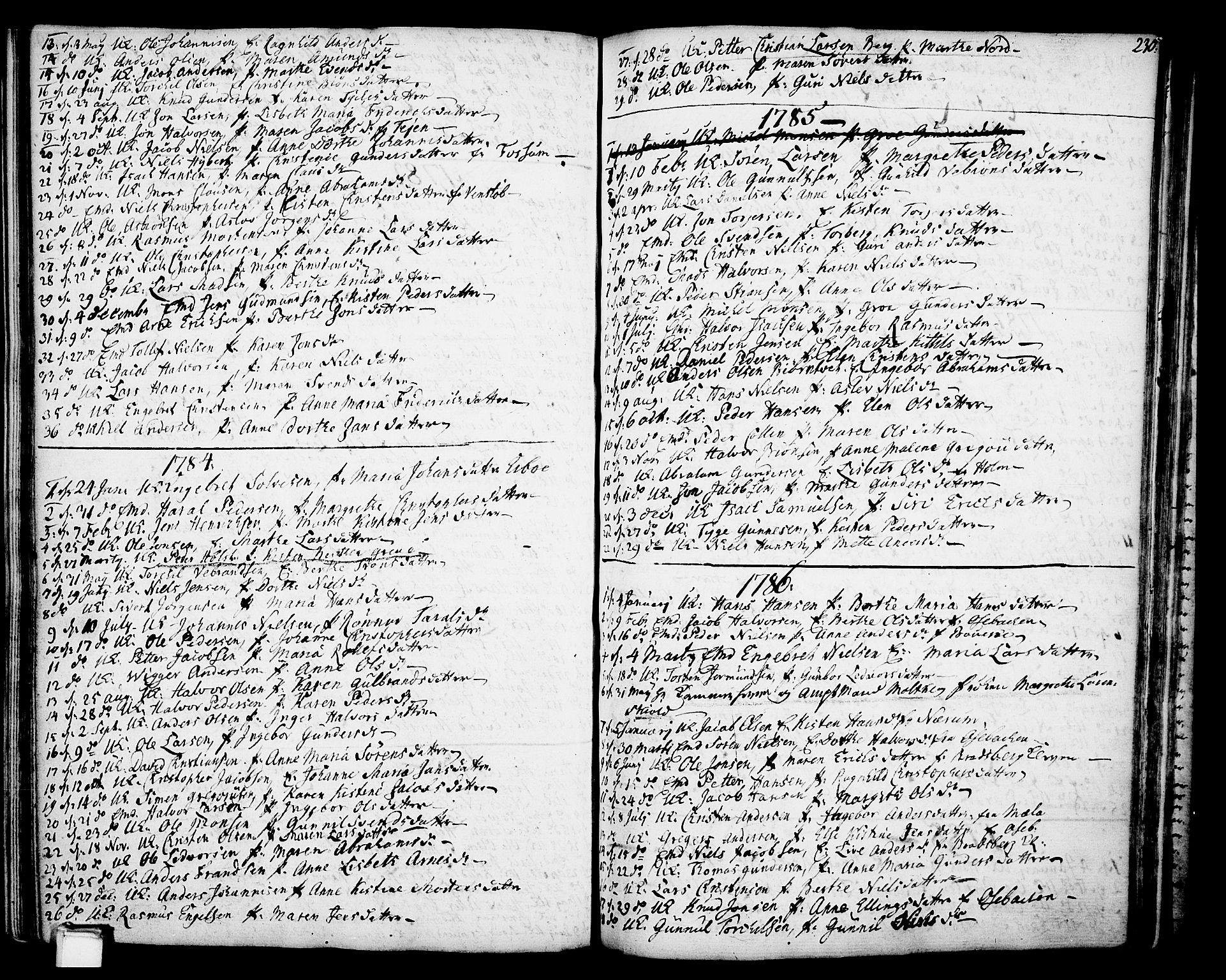 SAKO, Gjerpen kirkebøker, F/Fa/L0002: Ministerialbok nr. 2, 1747-1795, s. 230