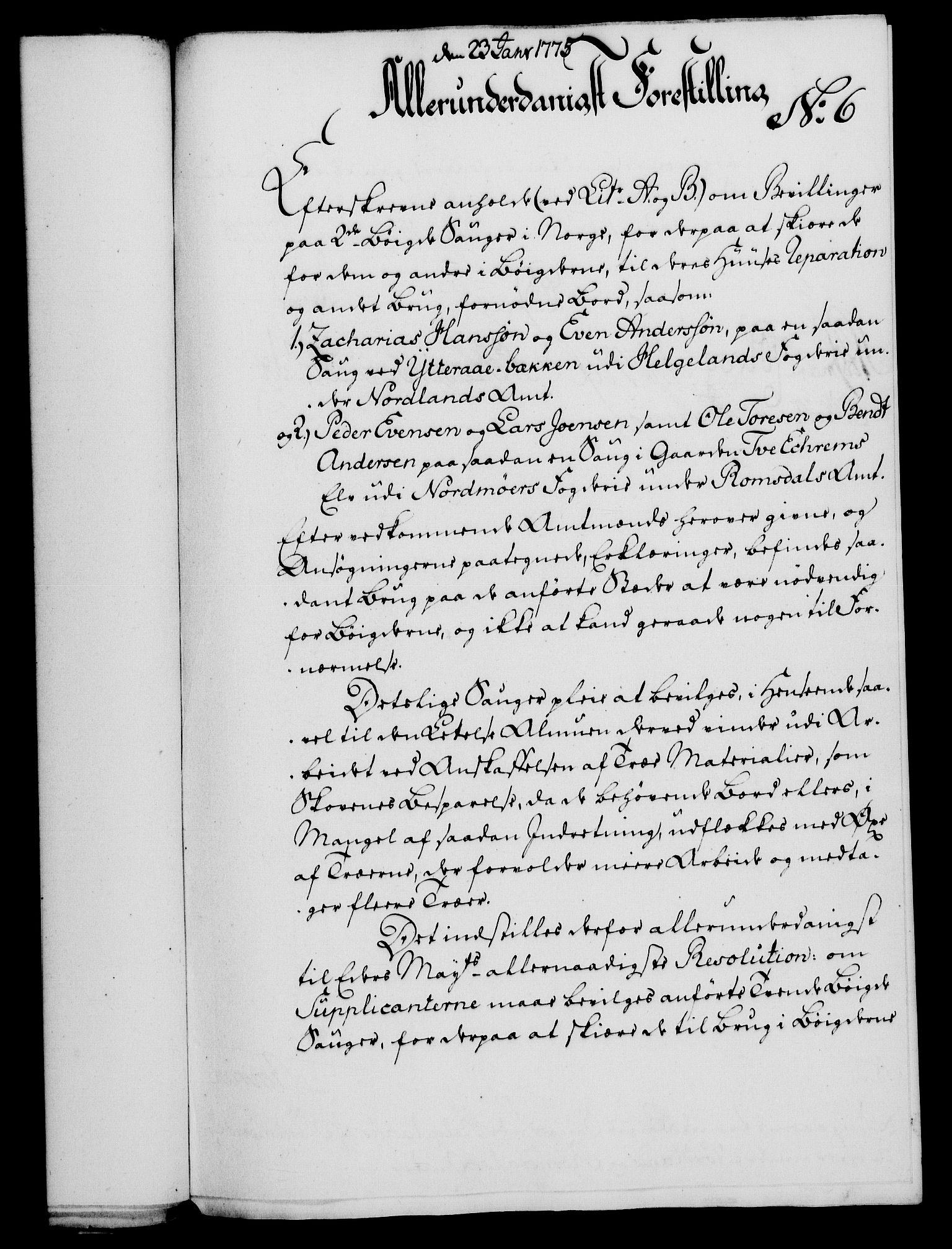RA, Rentekammeret, Kammerkanselliet, G/Gf/Gfa/L0057: Norsk relasjons- og resolusjonsprotokoll (merket RK 52.57), 1775, s. 44