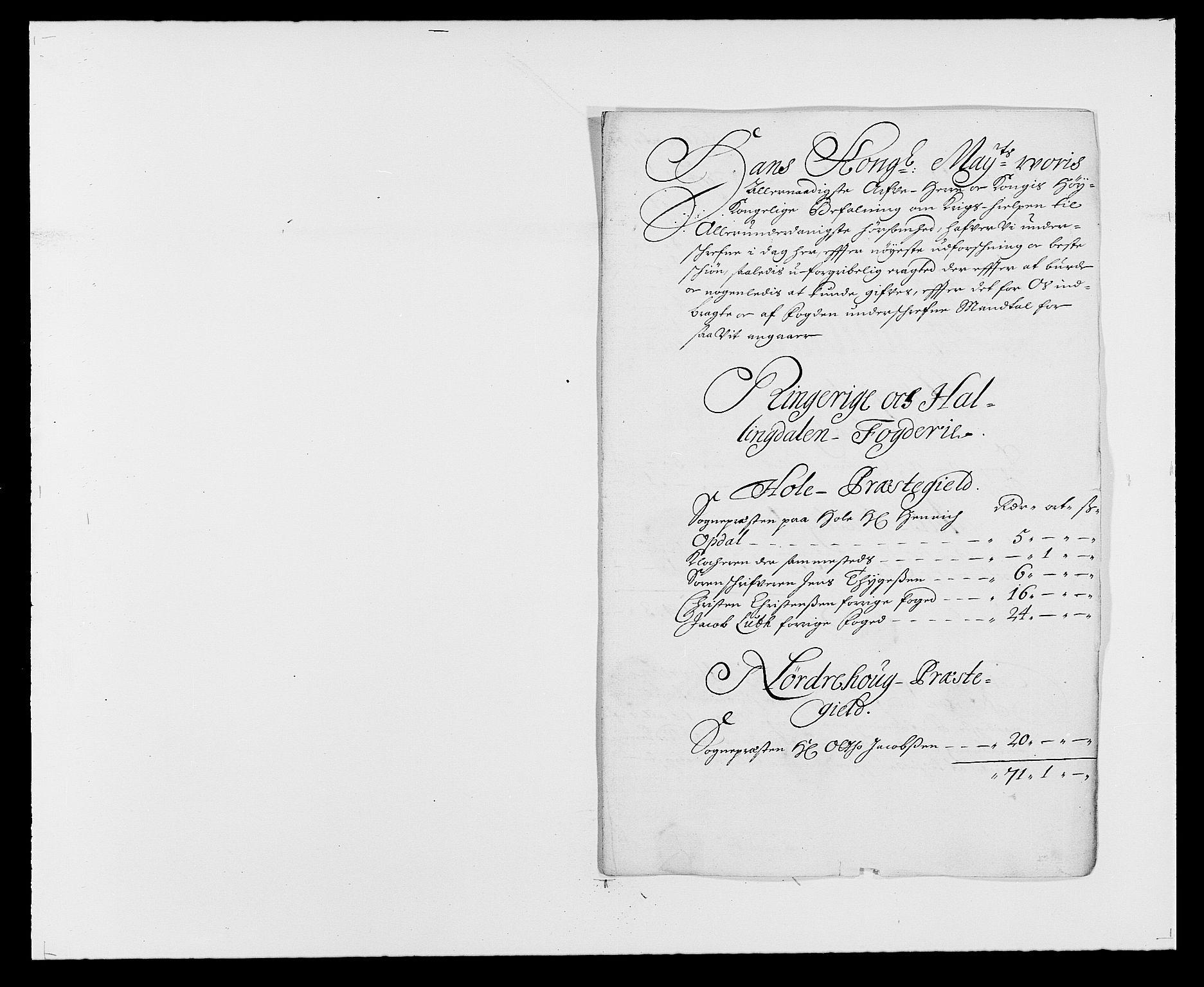 RA, Rentekammeret inntil 1814, Reviderte regnskaper, Fogderegnskap, R21/L1446: Fogderegnskap Ringerike og Hallingdal, 1683-1686, s. 120