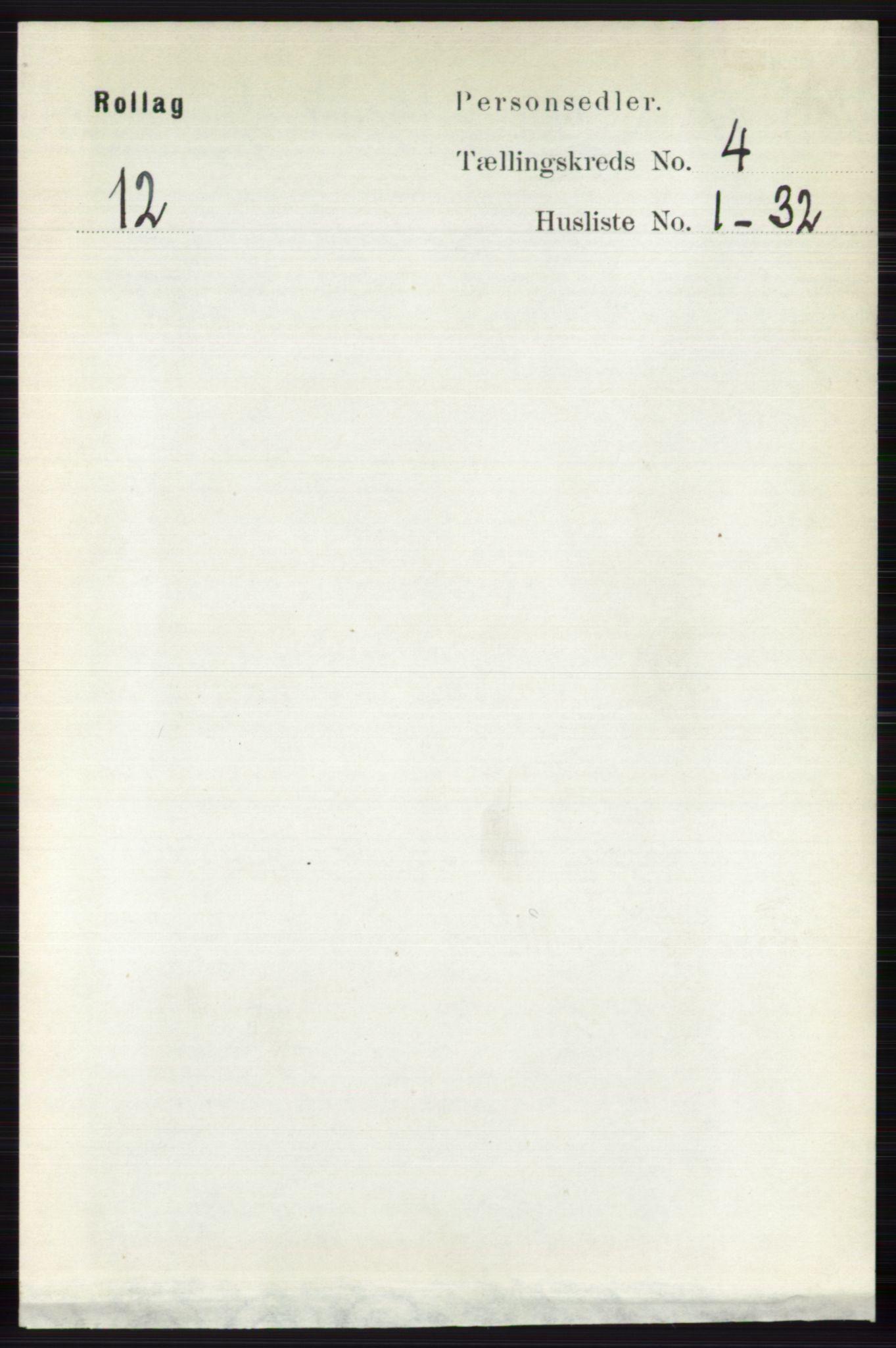 RA, Folketelling 1891 for 0632 Rollag herred, 1891, s. 1281