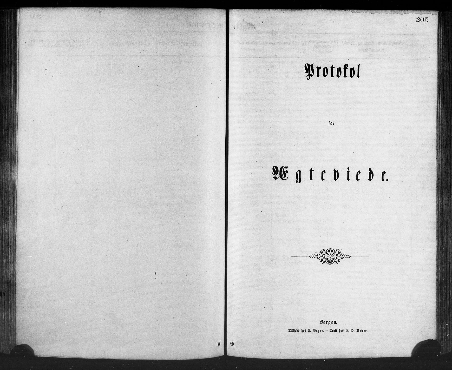 SAB, Manger sokneprestembete, H/Haa: Ministerialbok nr. A 8, 1871-1880, s. 205