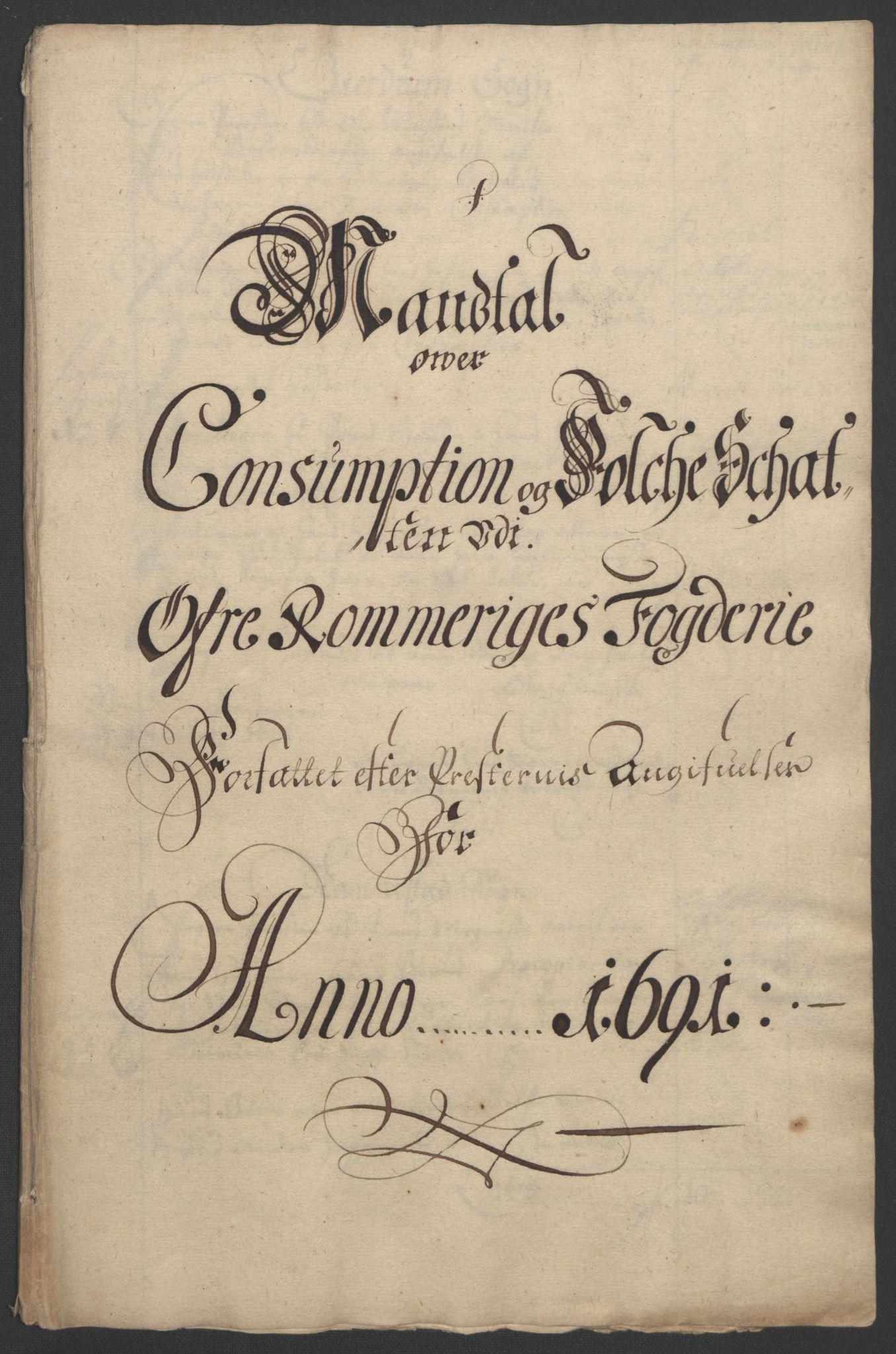 RA, Rentekammeret inntil 1814, Reviderte regnskaper, Fogderegnskap, R12/L0703: Fogderegnskap Øvre Romerike, 1691, s. 220