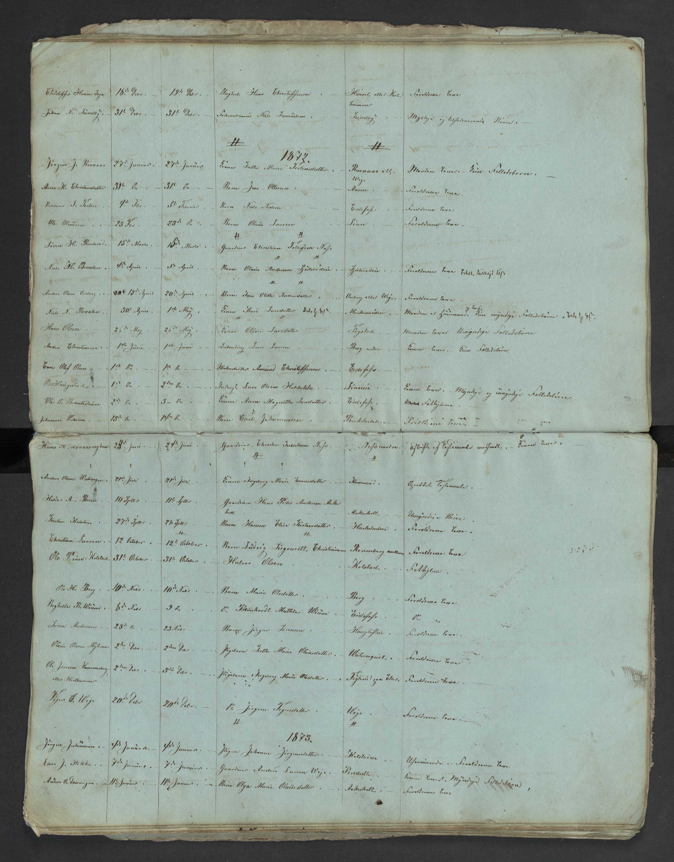 SAKO, Hof lensmannskontor, H/Ha/L0001: Dødsanmeldelseprotokoll, 1849-1908