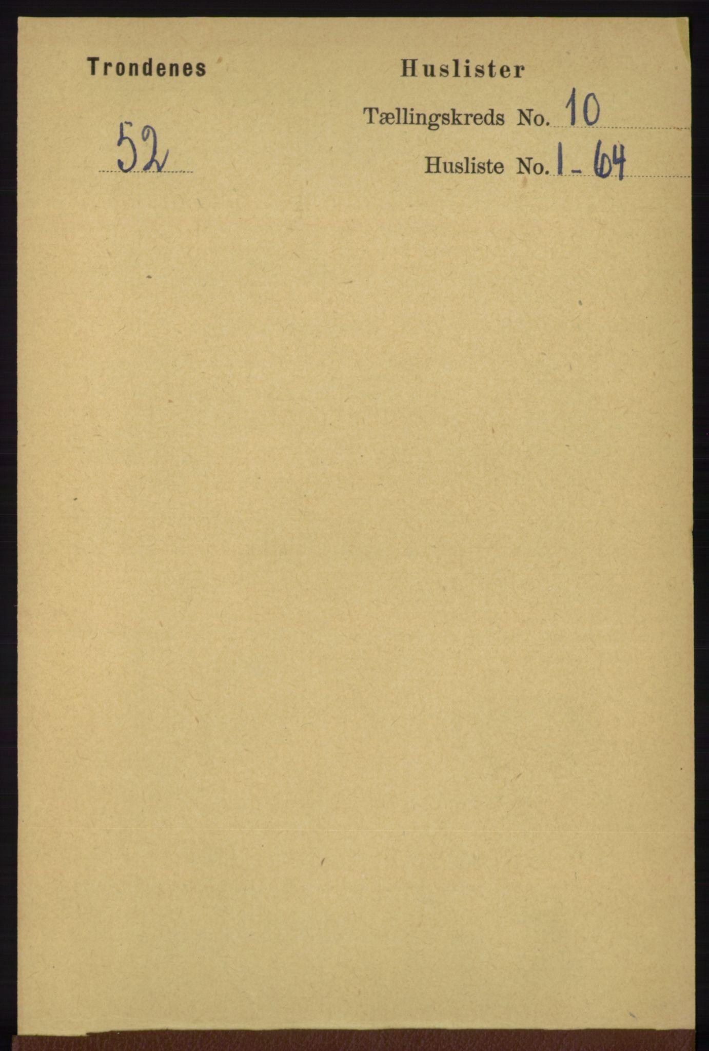 RA, Folketelling 1891 for 1914 Trondenes herred, 1891, s. 7432