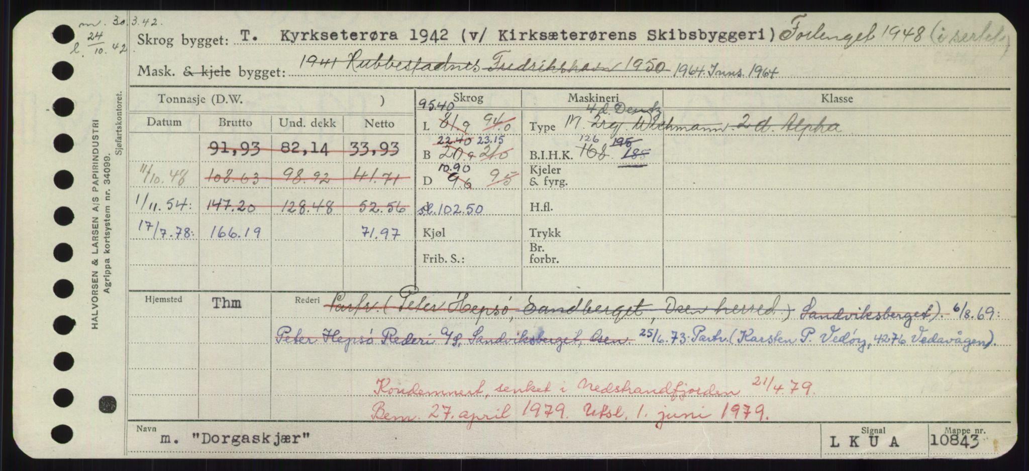 RA, Sjøfartsdirektoratet med forløpere, Skipsmålingen, H/Hd/L0008: Fartøy, C-D, s. 581