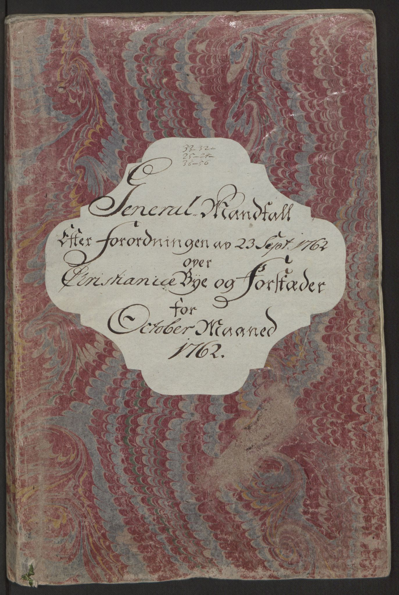 RA, Rentekammeret inntil 1814, Reviderte regnskaper, Byregnskaper, R/Re/L0071: [E13] Kontribusjonsregnskap, 1762, s. 13