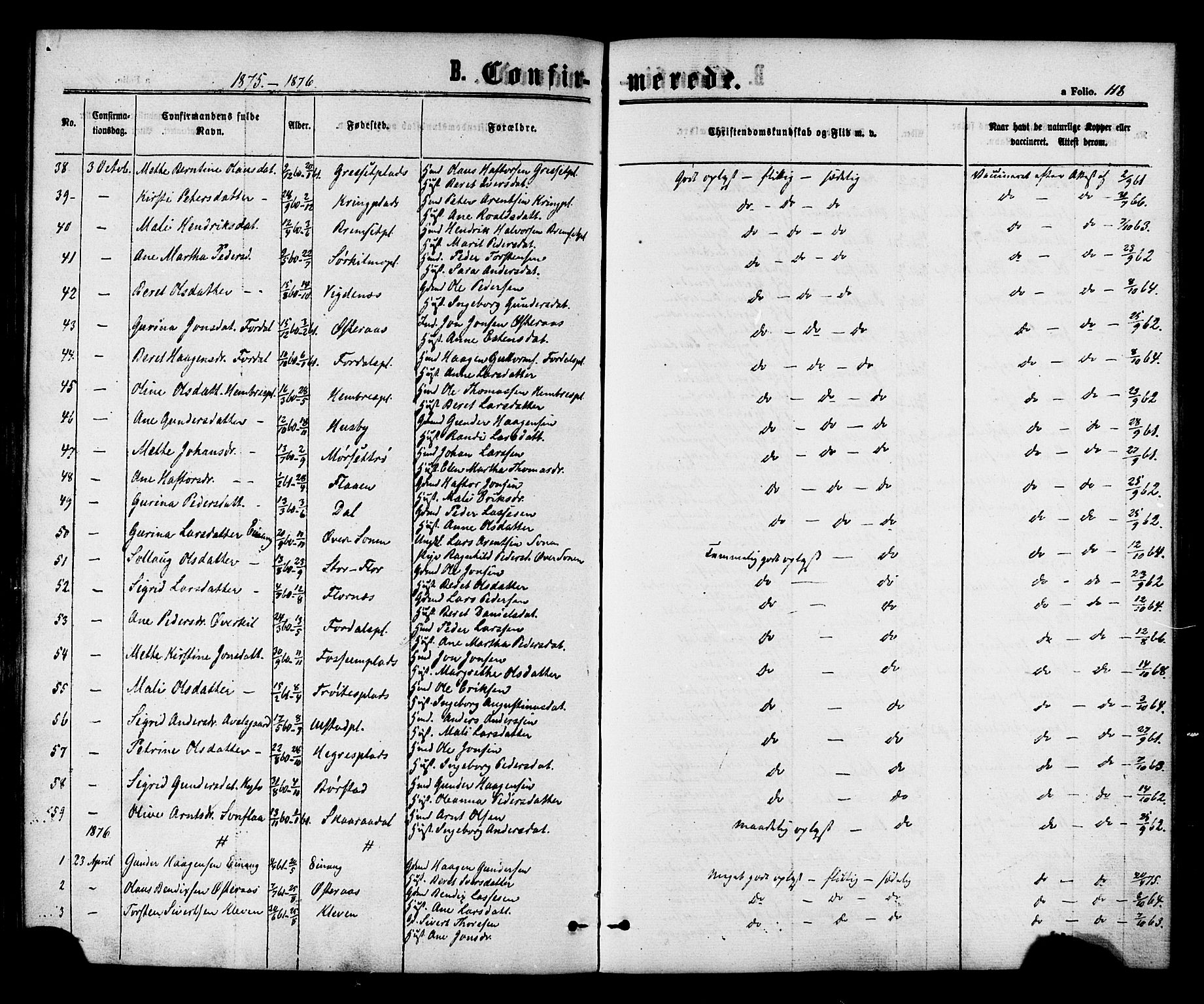 SAT, Ministerialprotokoller, klokkerbøker og fødselsregistre - Nord-Trøndelag, 703/L0029: Ministerialbok nr. 703A02, 1863-1879, s. 118