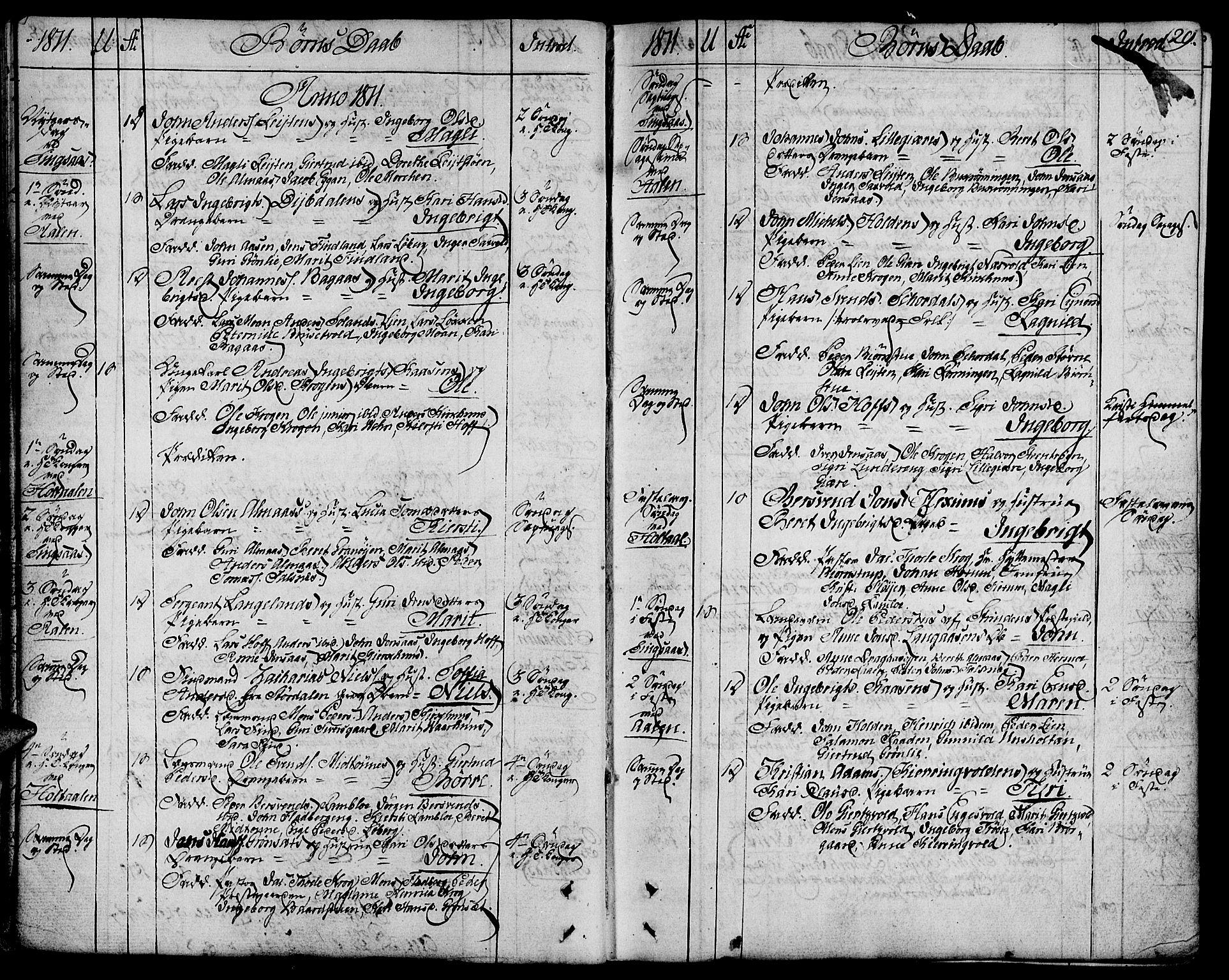 SAT, Ministerialprotokoller, klokkerbøker og fødselsregistre - Sør-Trøndelag, 685/L0953: Ministerialbok nr. 685A02, 1805-1816, s. 29