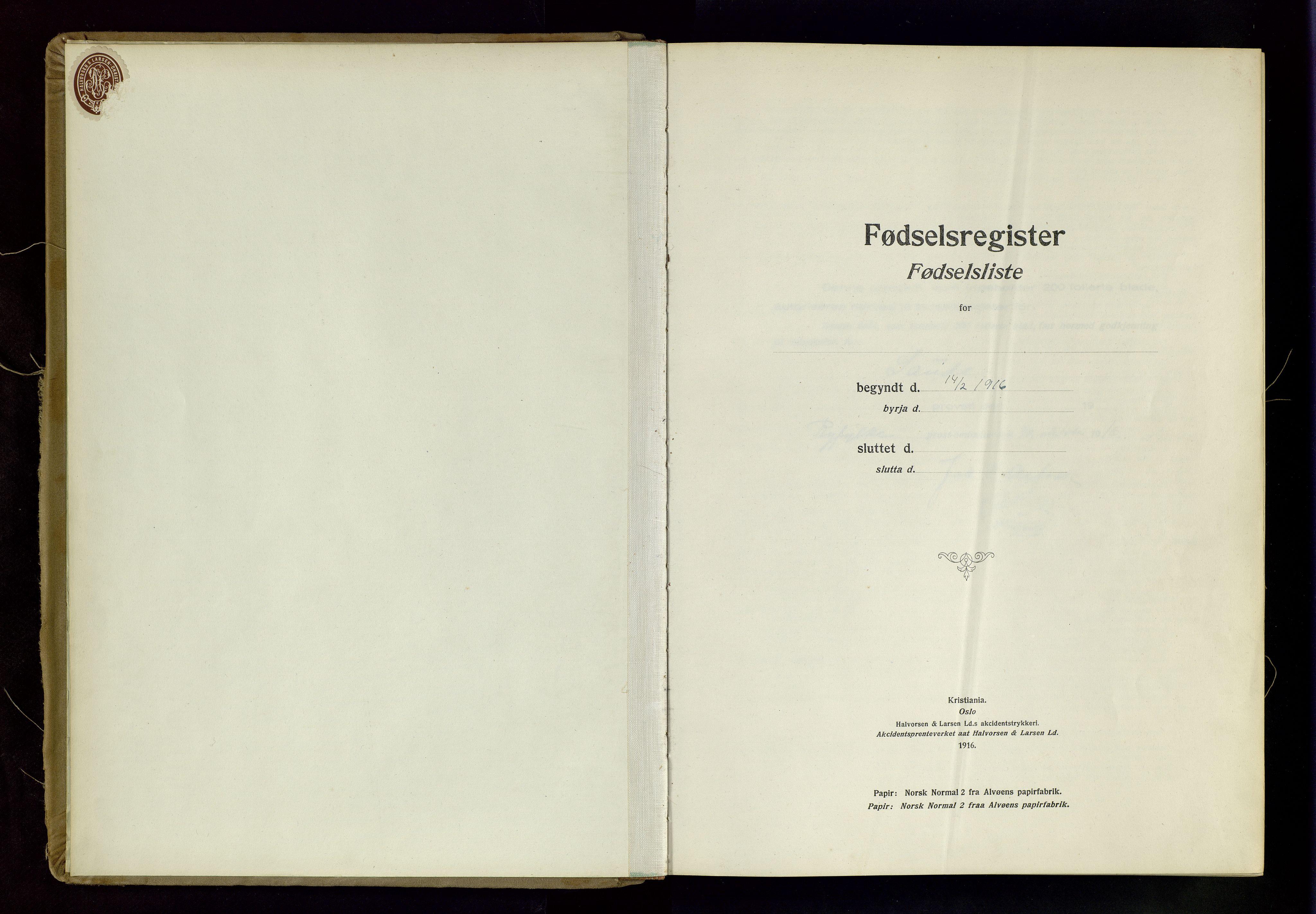 SAST, Sand sokneprestkontor, C/L0003: Fødselsregister nr. 3, 1916-1936