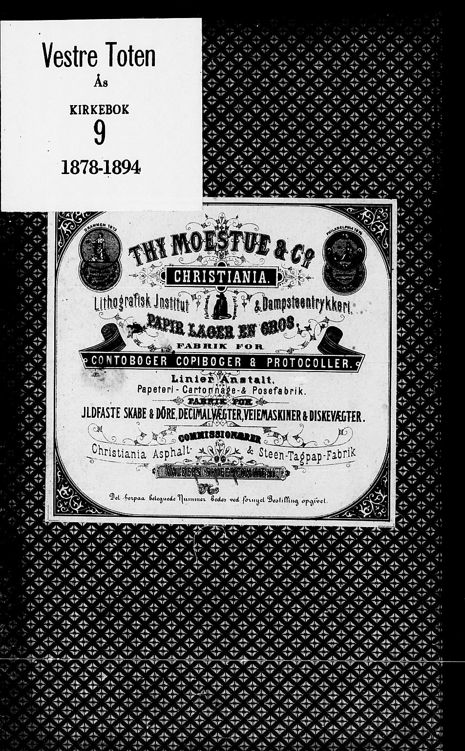 SAH, Vestre Toten prestekontor, Ministerialbok nr. 9, 1878-1894