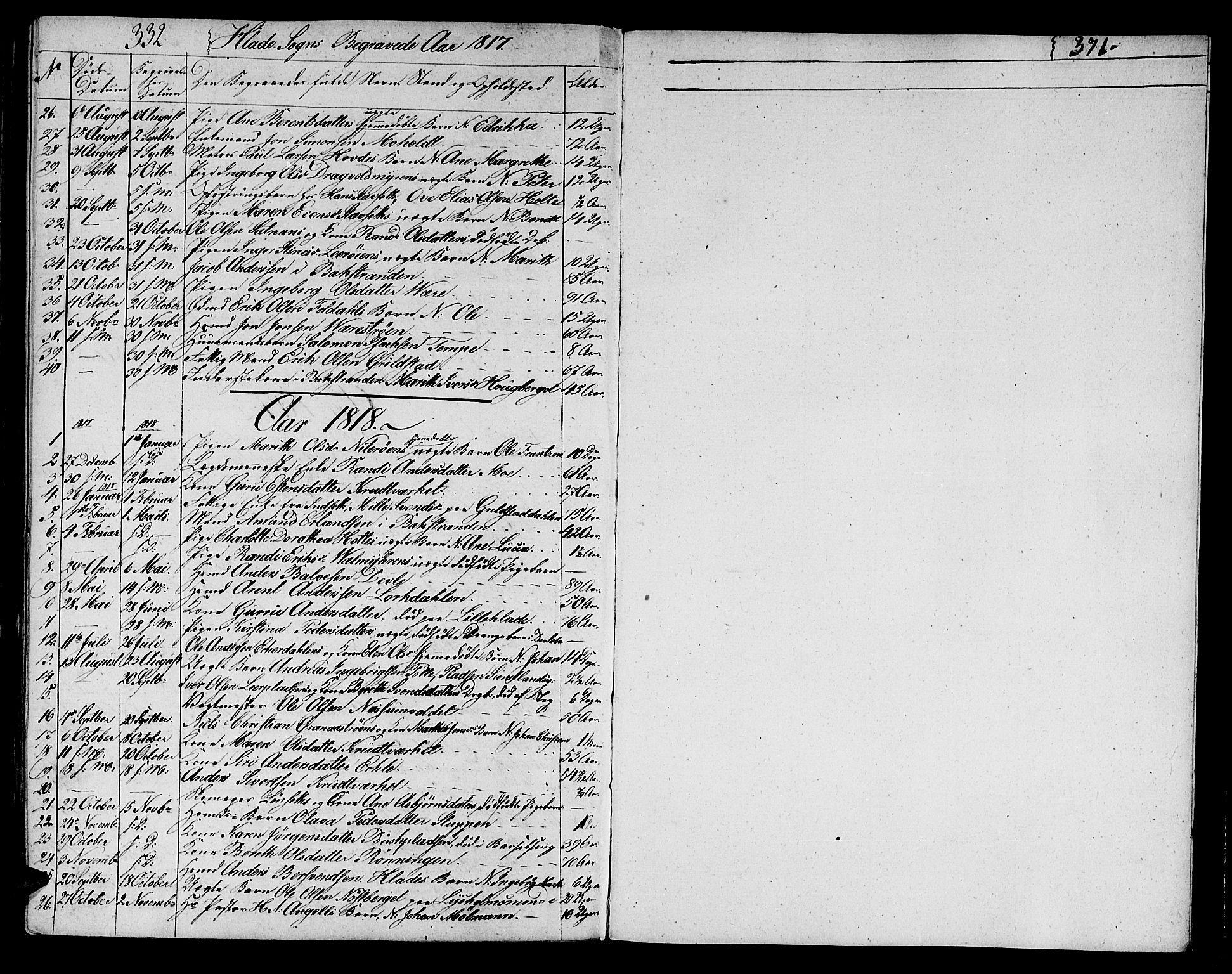 SAT, Ministerialprotokoller, klokkerbøker og fødselsregistre - Sør-Trøndelag, 606/L0306: Klokkerbok nr. 606C02, 1797-1829, s. 332-371
