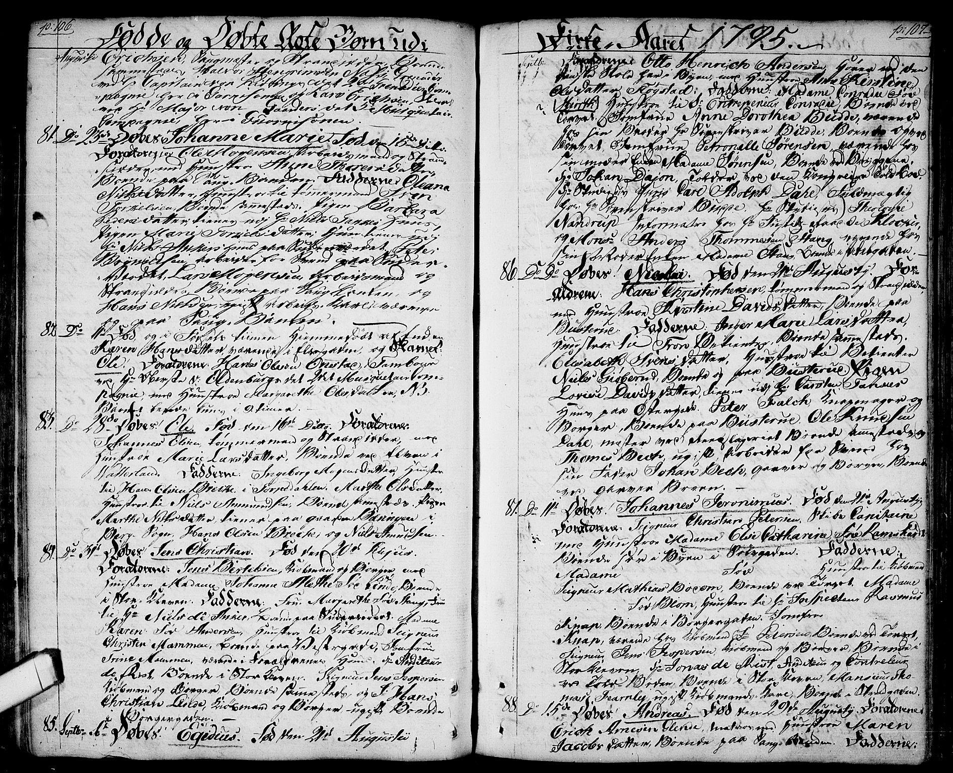 SAO, Halden prestekontor Kirkebøker, F/Fa/L0002: Ministerialbok nr. I 2, 1792-1812, s. 106-107