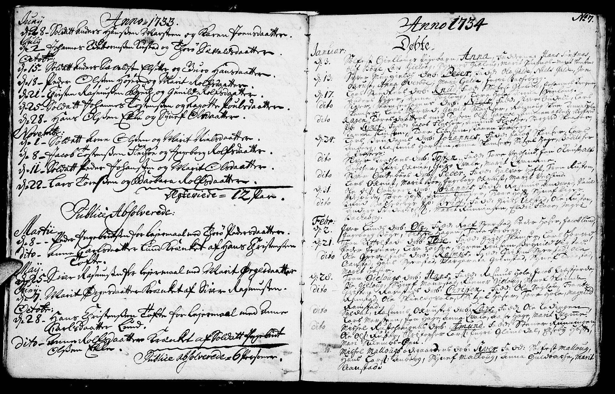 SAH, Lom prestekontor, K/L0001: Ministerialbok nr. 1, 1733-1748, s. 7