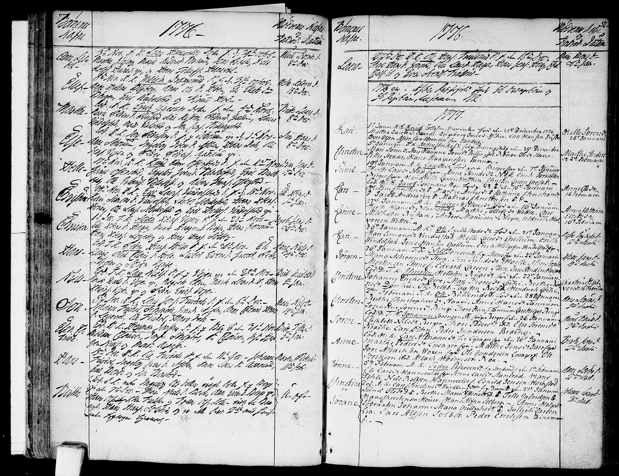 SAO, Asker prestekontor Kirkebøker, F/Fa/L0003: Ministerialbok nr. I 3, 1767-1807, s. 50