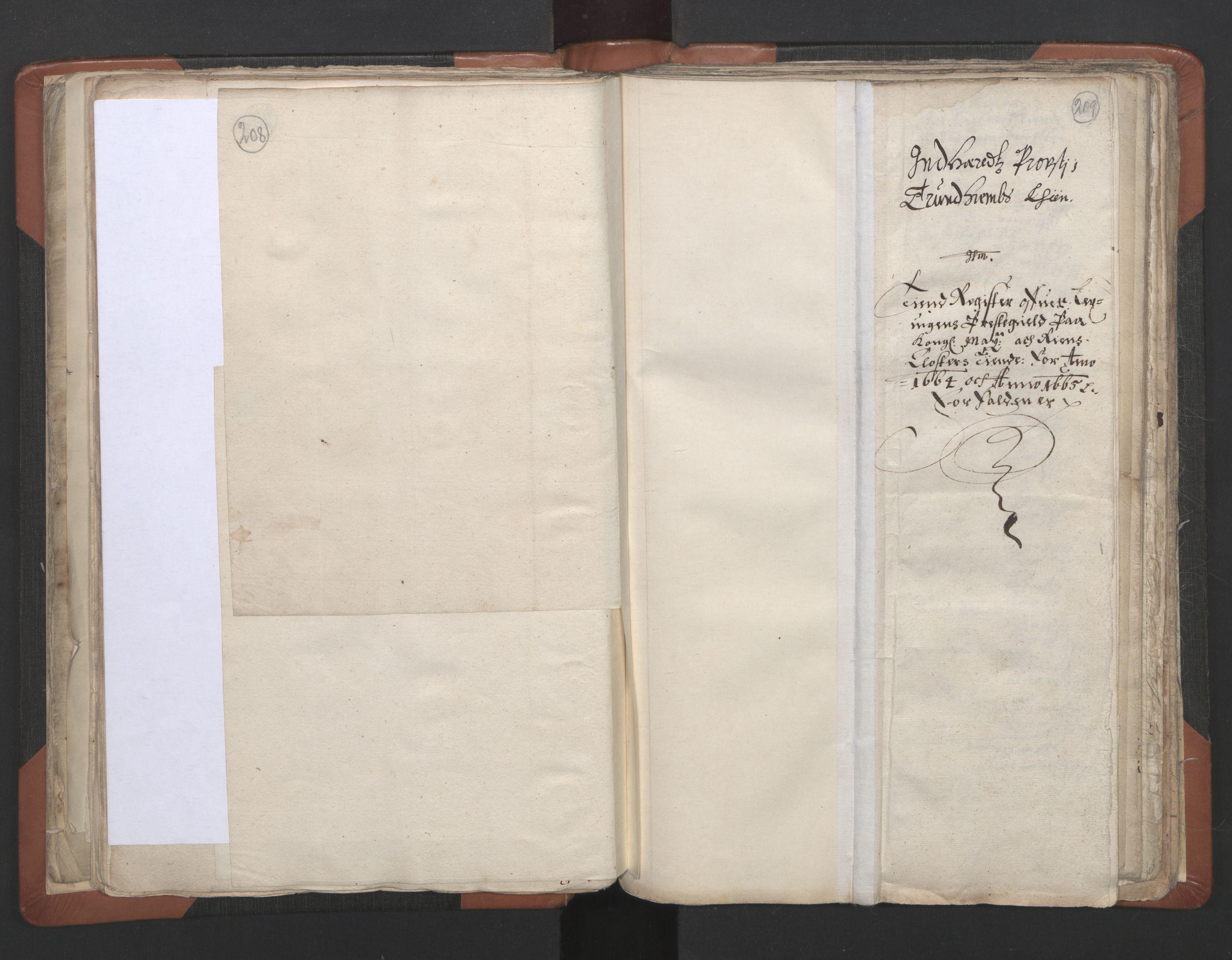 RA, Sogneprestenes manntall 1664-1666, nr. 32: Innherad prosti, 1664-1666, s. 208-209