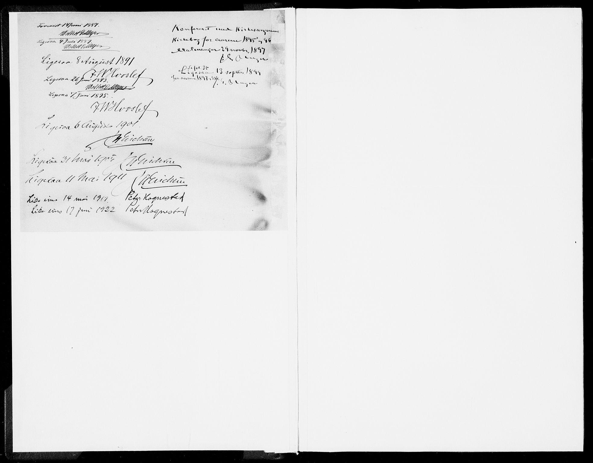 SAB, Kvinnherad Sokneprestembete, H/Haa: Ministerialbok nr. B  1, 1887-1921