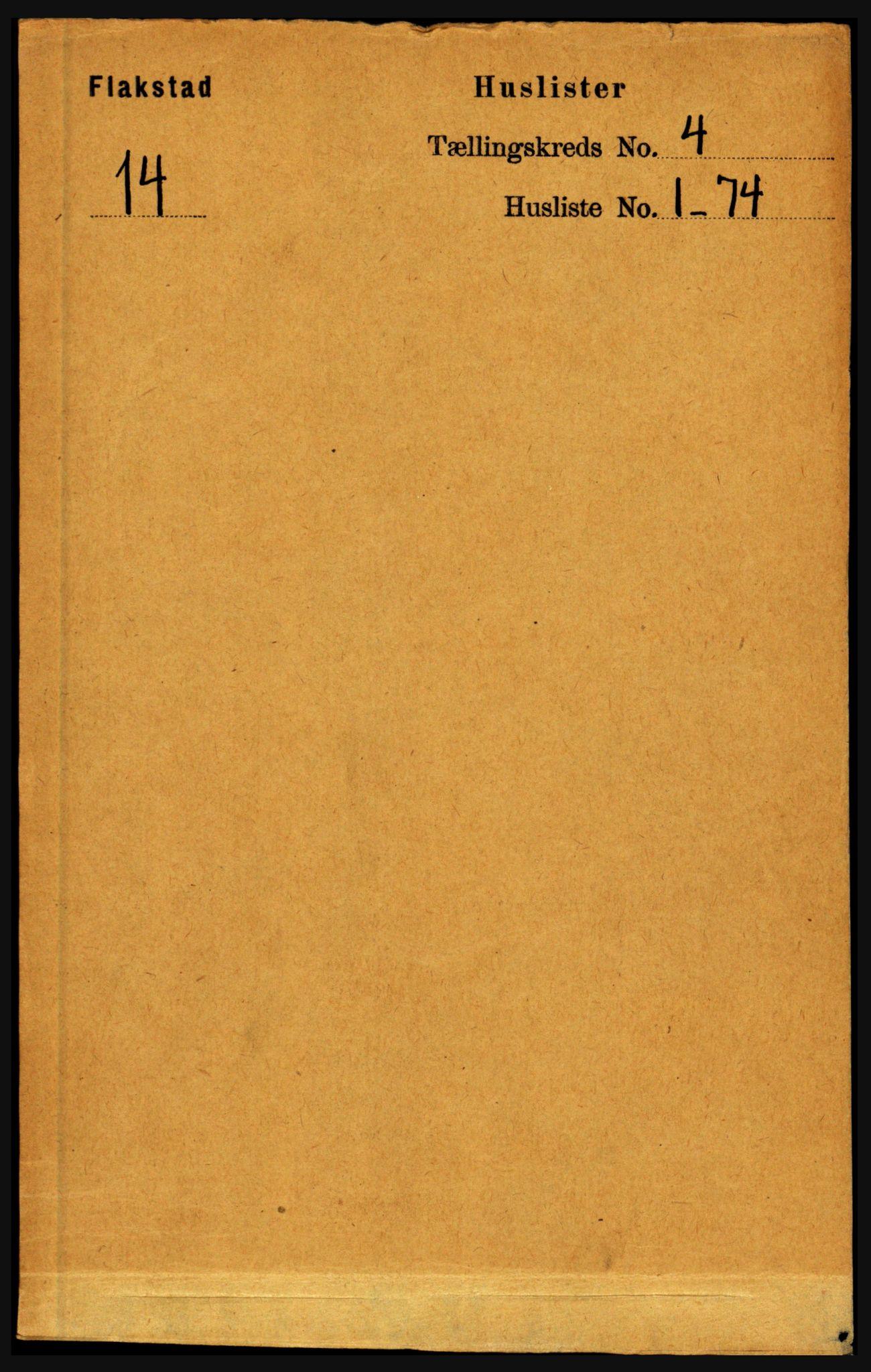 RA, Folketelling 1891 for 1859 Flakstad herred, 1891, s. 1784