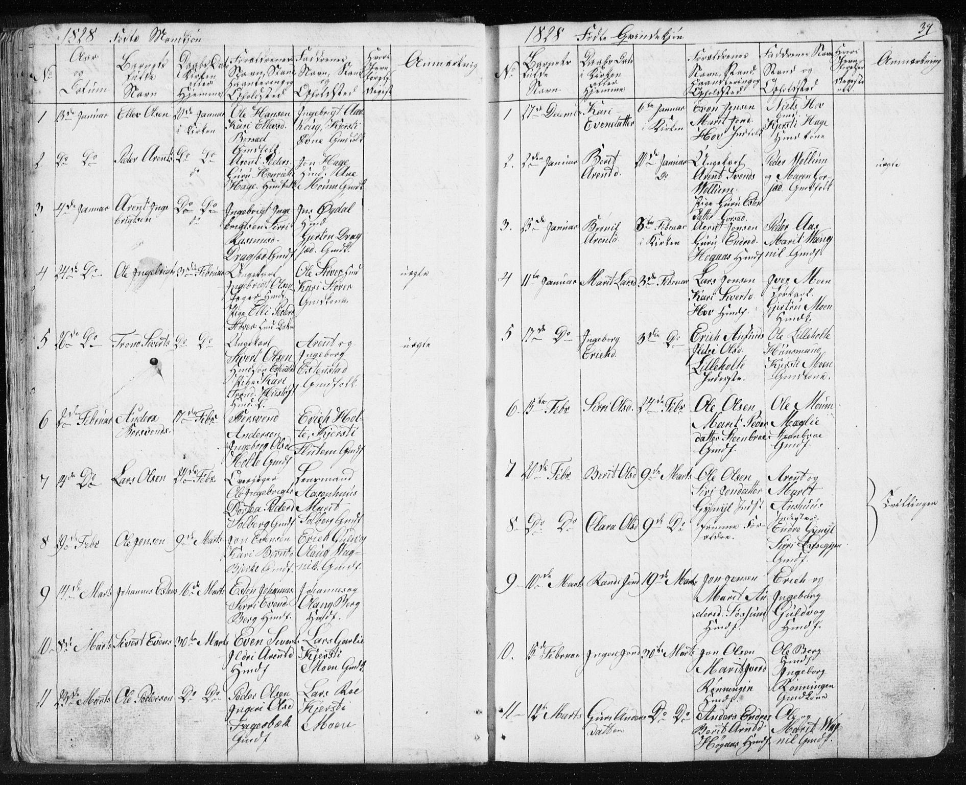SAT, Ministerialprotokoller, klokkerbøker og fødselsregistre - Sør-Trøndelag, 689/L1043: Klokkerbok nr. 689C02, 1816-1892, s. 34