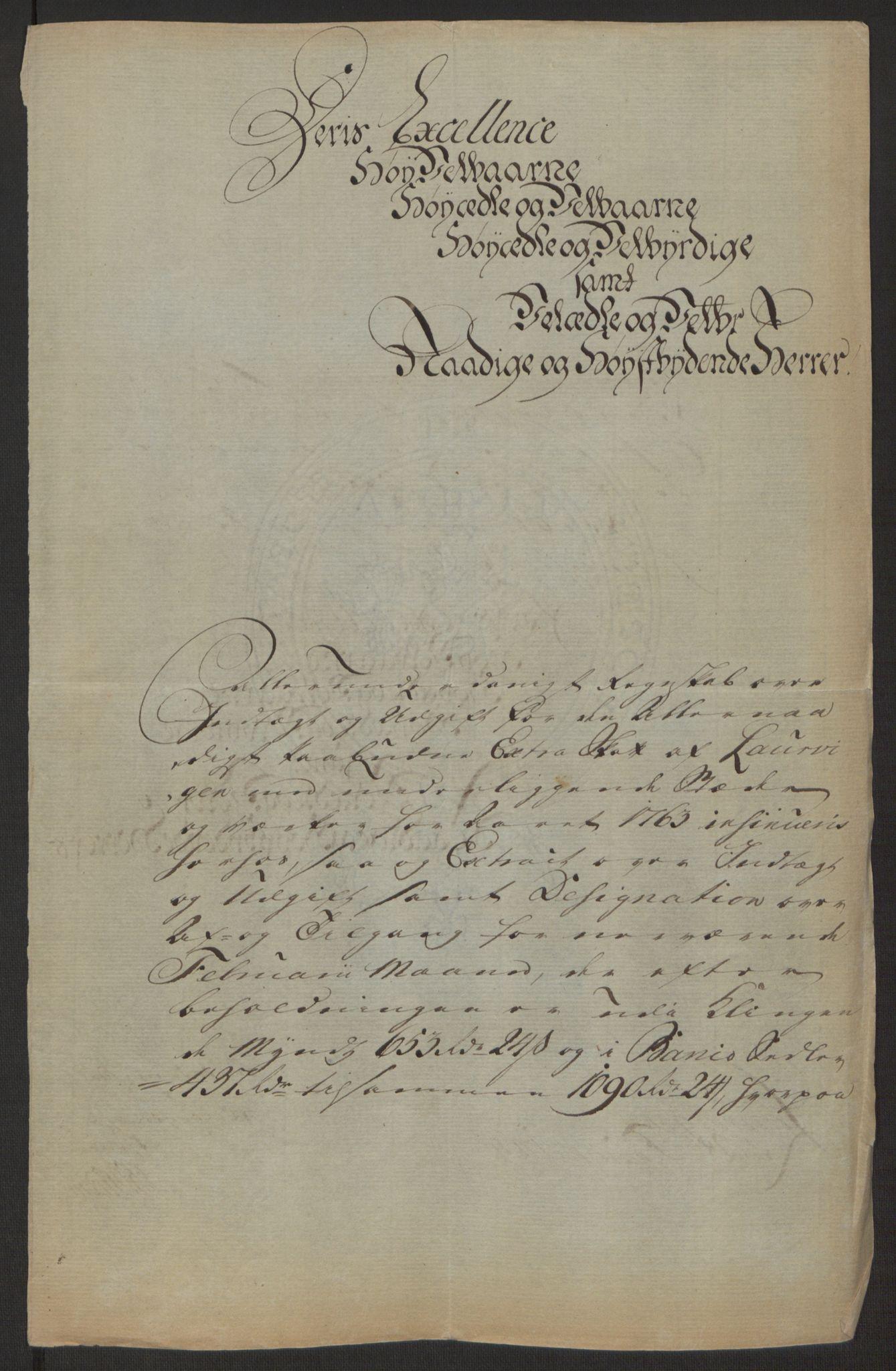 RA, Rentekammeret inntil 1814, Reviderte regnskaper, Byregnskaper, R/Ri/L0183: [I4] Kontribusjonsregnskap, 1762-1768, s. 94