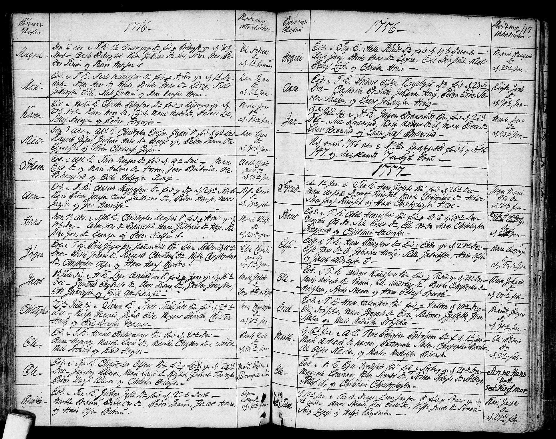 SAO, Asker prestekontor Kirkebøker, F/Fa/L0002: Ministerialbok nr. I 2, 1733-1766, s. 117