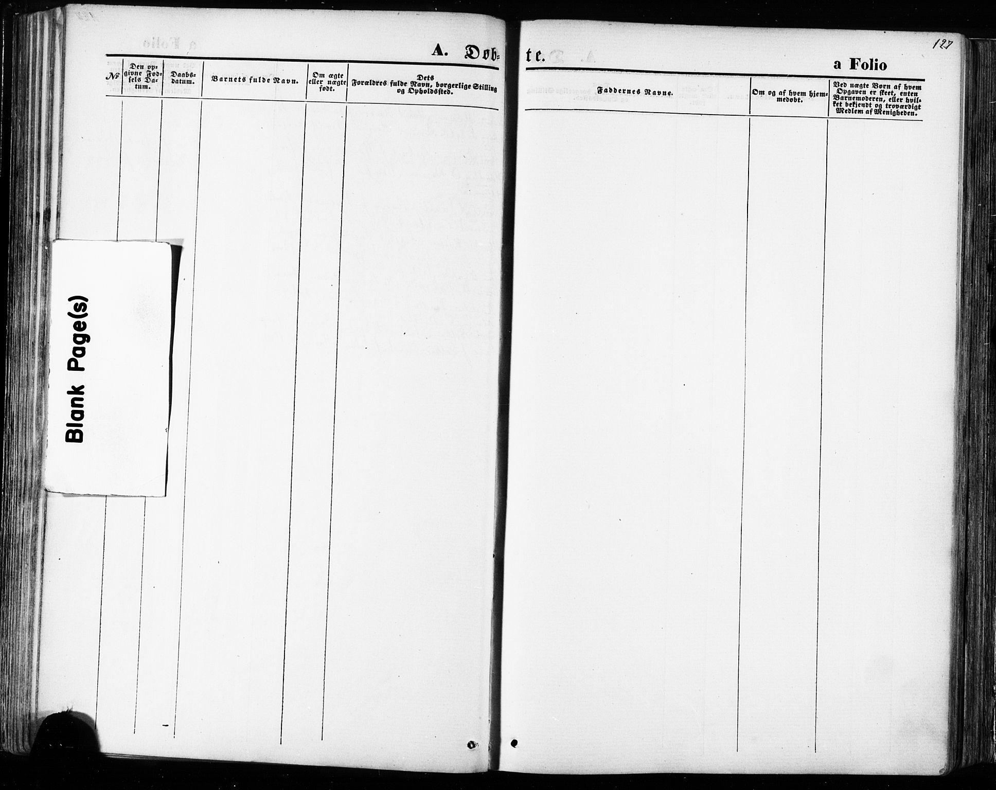 SAT, Ministerialprotokoller, klokkerbøker og fødselsregistre - Sør-Trøndelag, 668/L0807: Ministerialbok nr. 668A07, 1870-1880, s. 127
