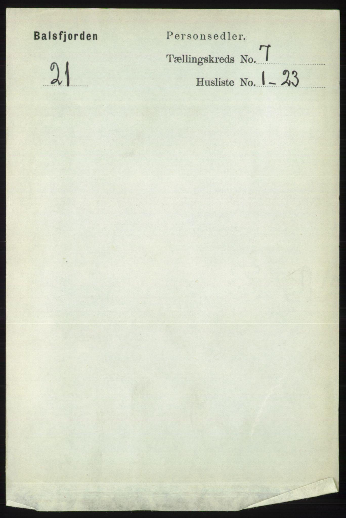 RA, Folketelling 1891 for 1933 Balsfjord herred, 1891, s. 2022