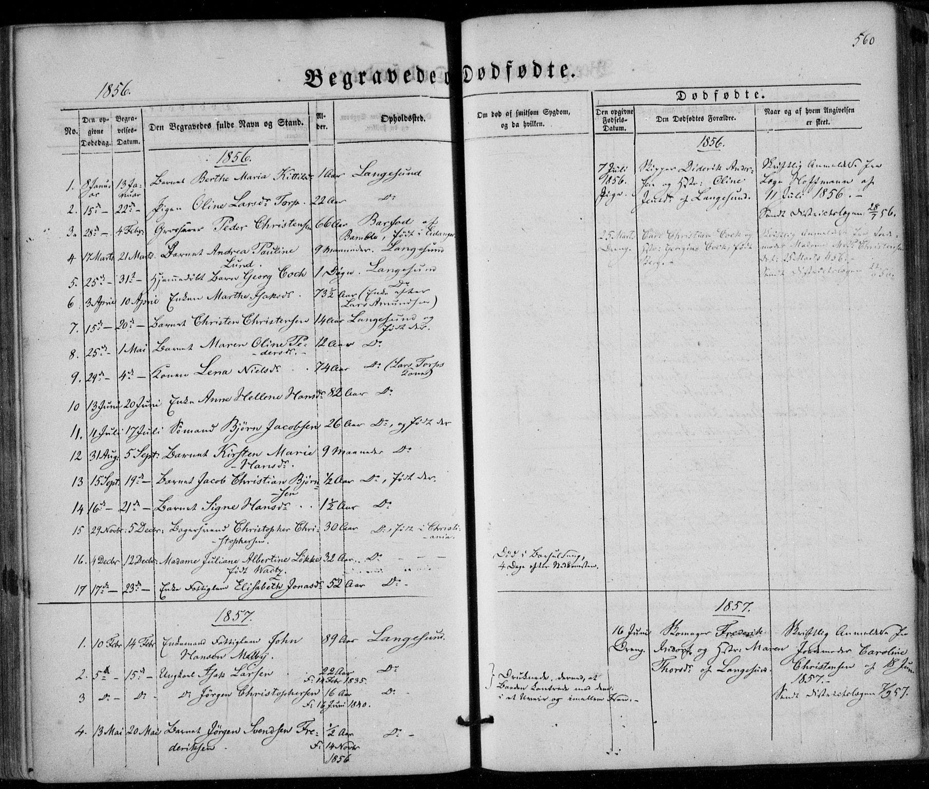 SAKO, Bamble kirkebøker, F/Fa/L0005: Ministerialbok nr. I 5, 1854-1869, s. 560