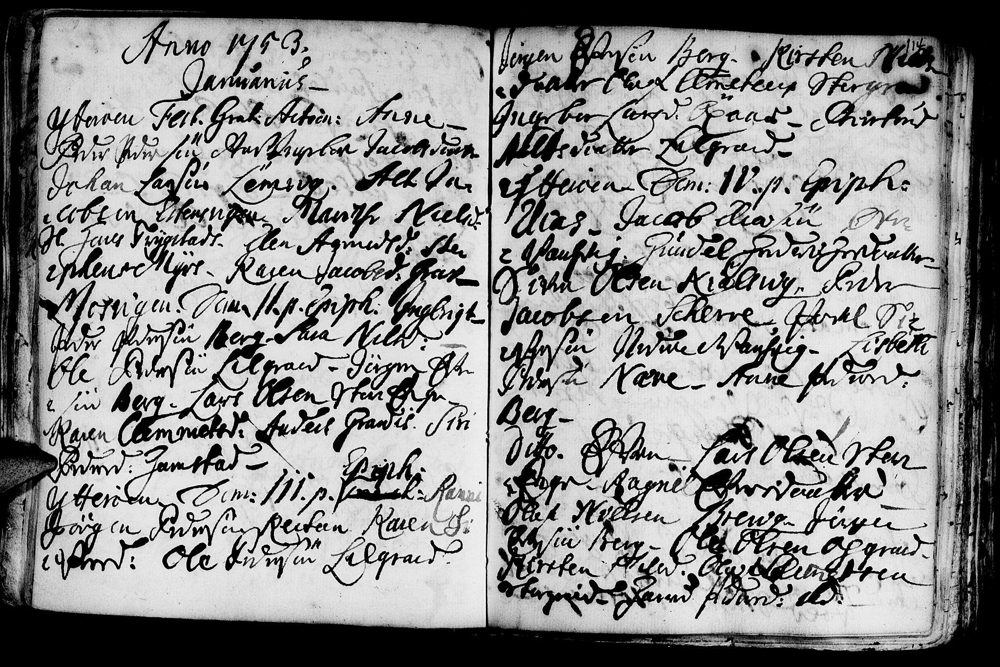 SAT, Ministerialprotokoller, klokkerbøker og fødselsregistre - Nord-Trøndelag, 722/L0215: Ministerialbok nr. 722A02, 1718-1755, s. 114