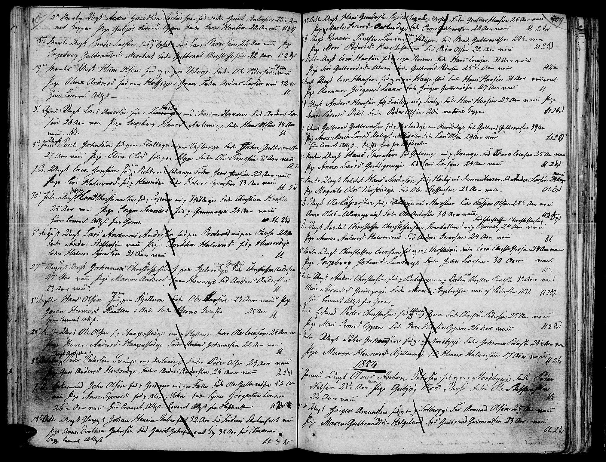 SAH, Jevnaker prestekontor, Ministerialbok nr. 4, 1800-1861, s. 408-409