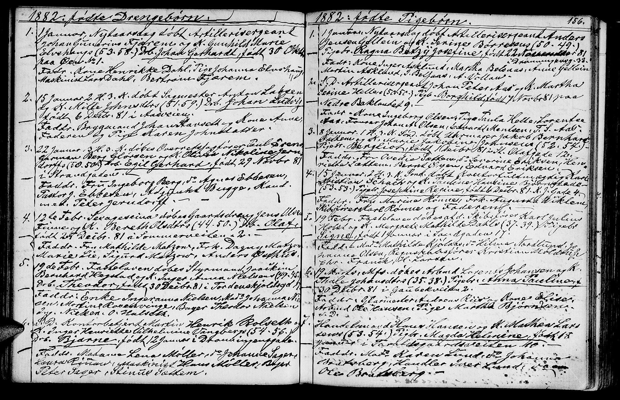 SAT, Ministerialprotokoller, klokkerbøker og fødselsregistre - Sør-Trøndelag, 602/L0142: Klokkerbok nr. 602C10, 1872-1894, s. 156