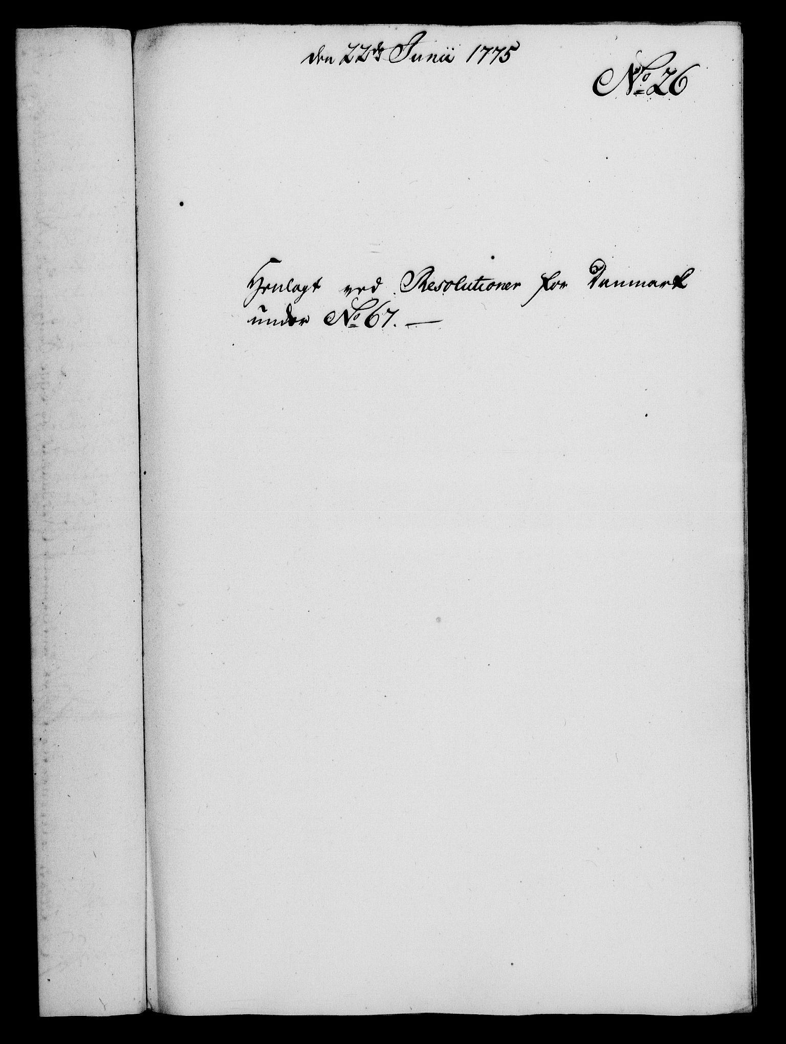 RA, Rentekammeret, Kammerkanselliet, G/Gf/Gfa/L0057: Norsk relasjons- og resolusjonsprotokoll (merket RK 52.57), 1775, s. 117