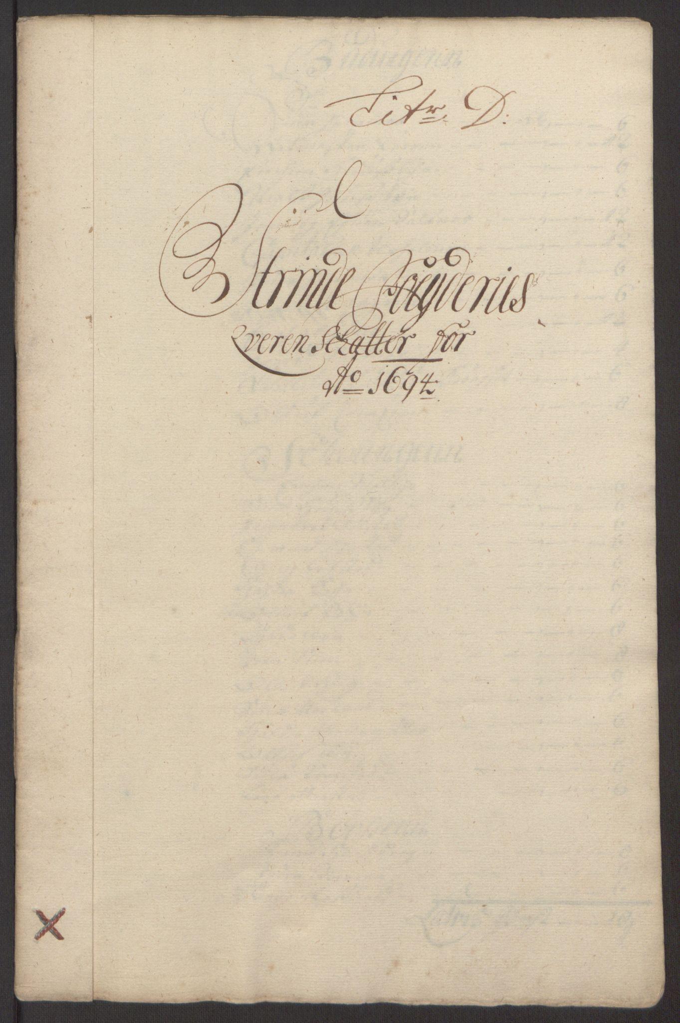 RA, Rentekammeret inntil 1814, Reviderte regnskaper, Fogderegnskap, R61/L4104: Fogderegnskap Strinda og Selbu, 1693-1694, s. 215