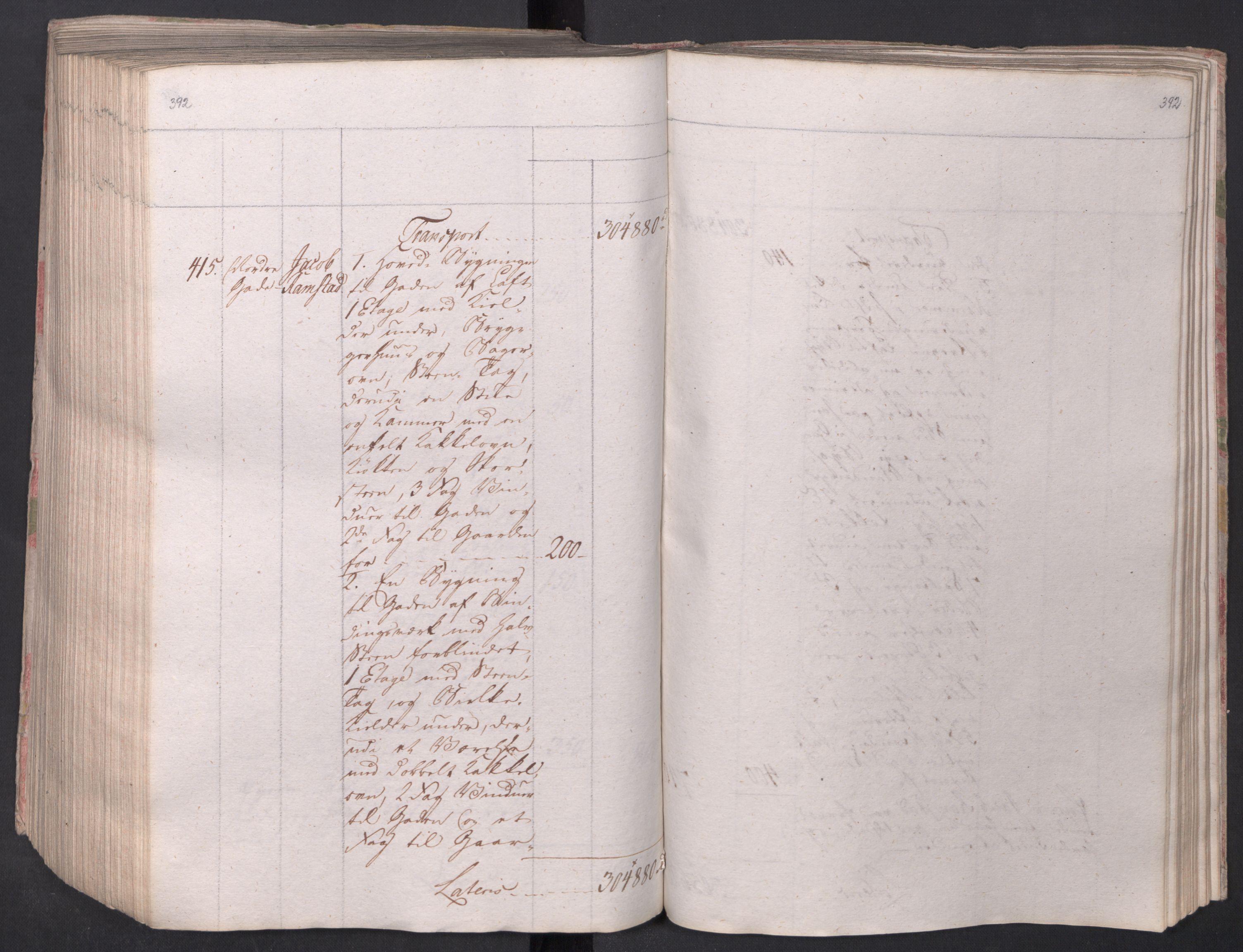 SAO, Kristiania stiftamt, I/Ia/L0015: Branntakster, 1797, s. 392
