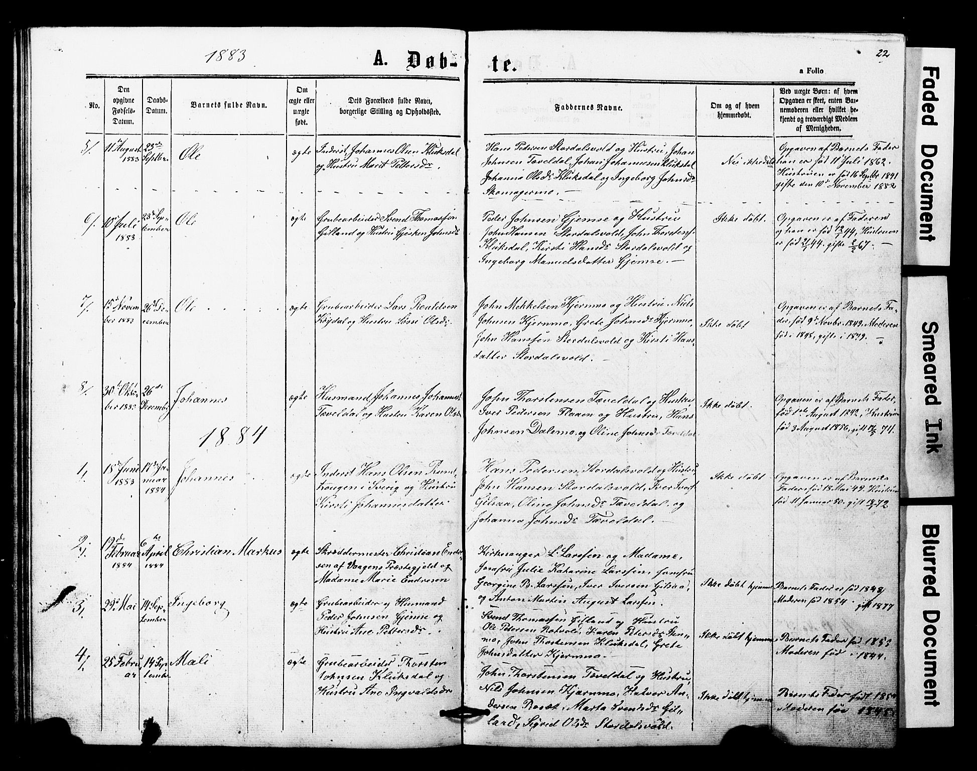 SAT, Ministerialprotokoller, klokkerbøker og fødselsregistre - Nord-Trøndelag, 707/L0052: Klokkerbok nr. 707C01, 1864-1897, s. 22