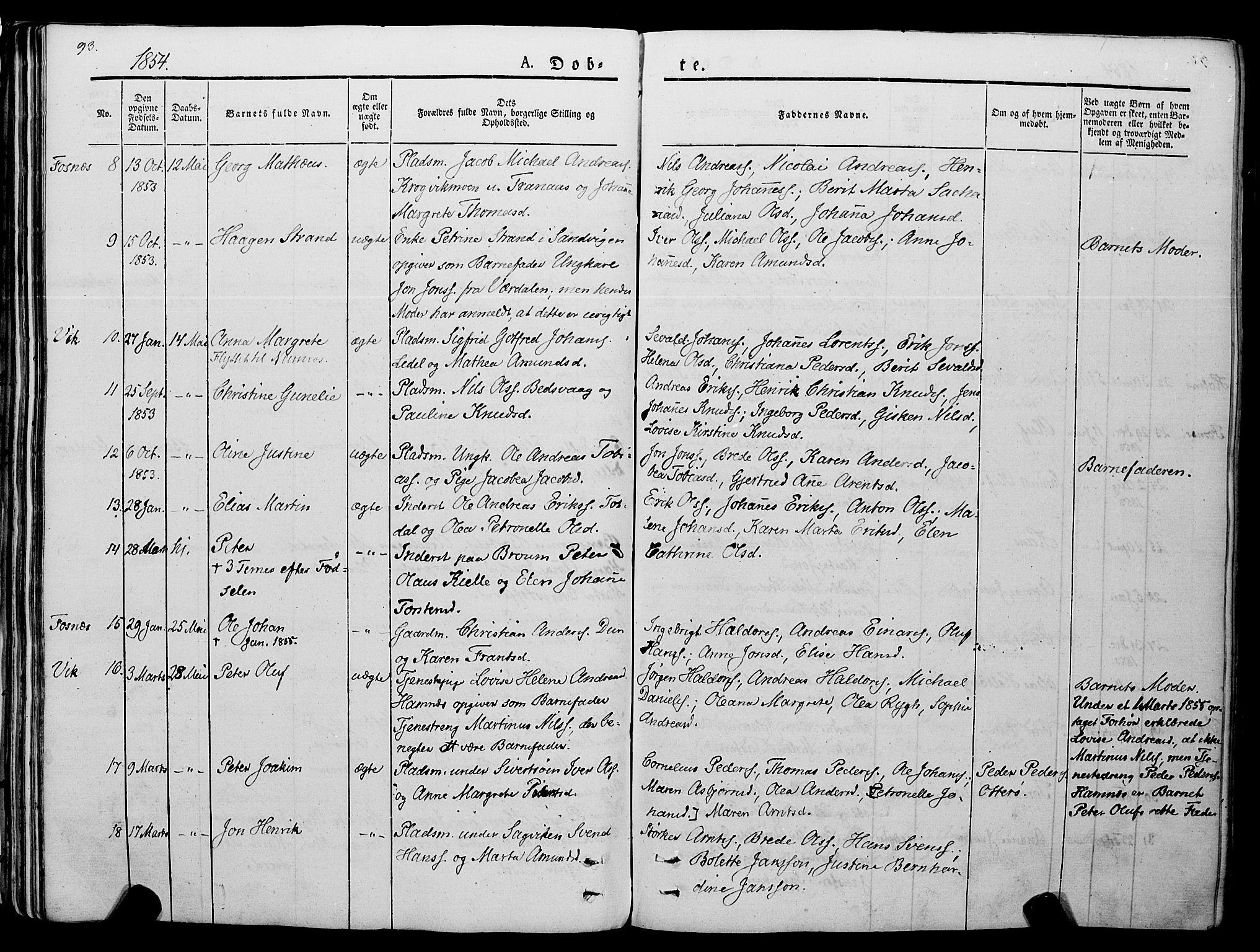 SAT, Ministerialprotokoller, klokkerbøker og fødselsregistre - Nord-Trøndelag, 773/L0614: Ministerialbok nr. 773A05, 1831-1856, s. 93