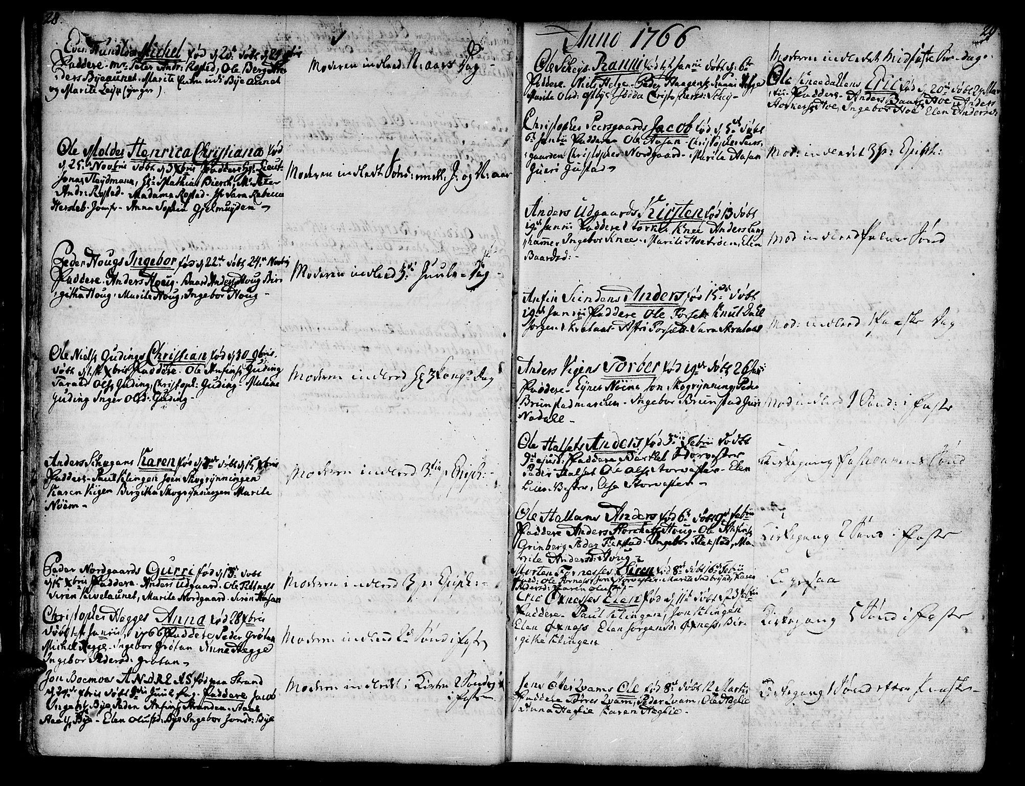 SAT, Ministerialprotokoller, klokkerbøker og fødselsregistre - Nord-Trøndelag, 746/L0440: Ministerialbok nr. 746A02, 1760-1815, s. 28-29