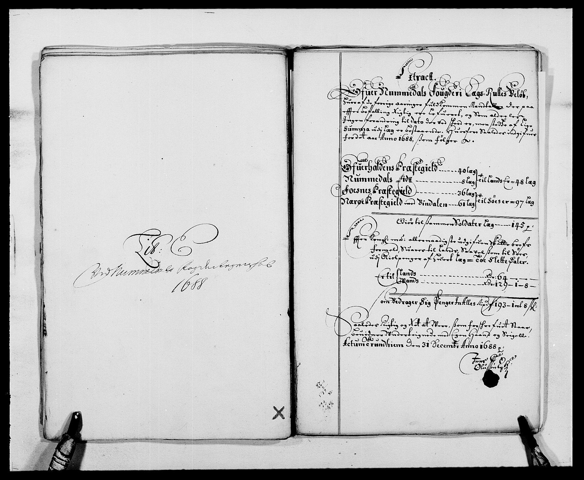 RA, Rentekammeret inntil 1814, Reviderte regnskaper, Fogderegnskap, R64/L4422: Fogderegnskap Namdal, 1687-1689, s. 120