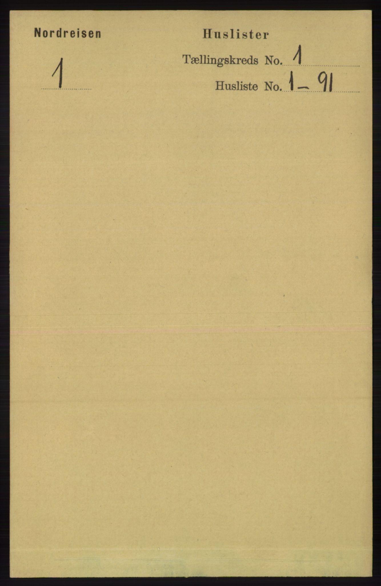 RA, Folketelling 1891 for 1942 Nordreisa herred, 1891, s. 13