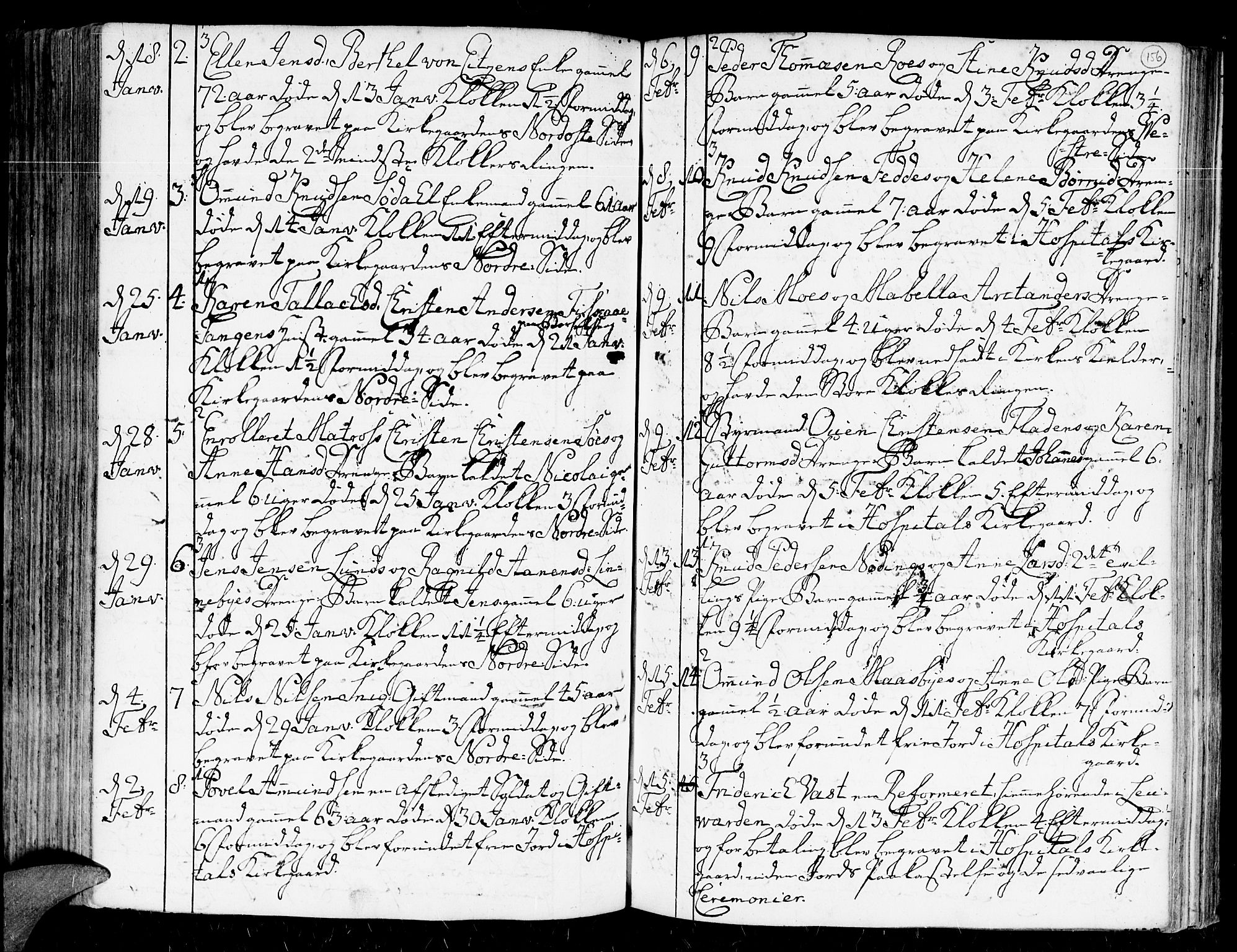 SAK, Kristiansand domprosti, F/Fa/L0004: Ministerialbok nr. A 4, 1762-1794, s. 156