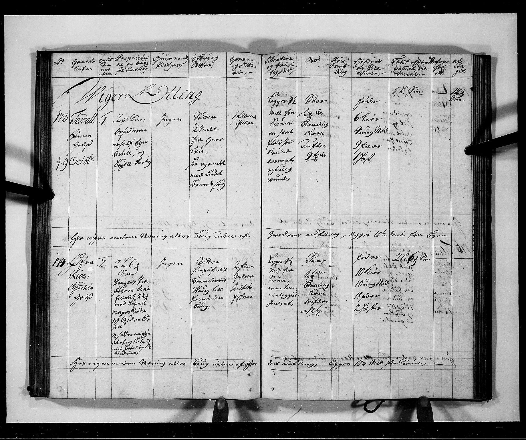 RA, Rentekammeret inntil 1814, Realistisk ordnet avdeling, N/Nb/Nbf/L0141: Voss eksaminasjonsprotokoll, 1723, s. 70b-71a