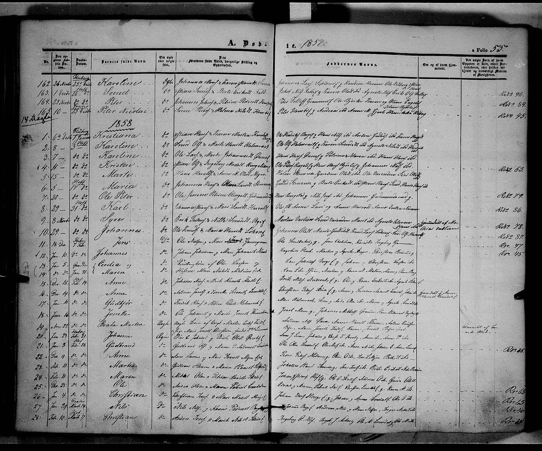 SAH, Land prestekontor, Ministerialbok nr. 9, 1847-1859, s. 55