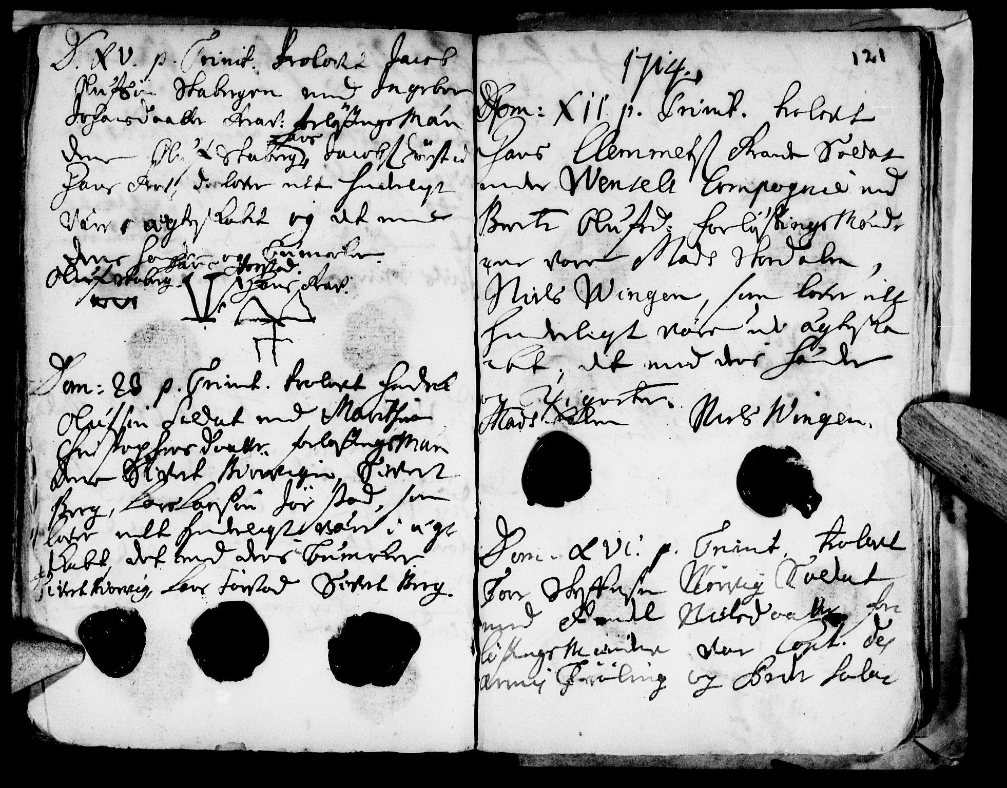 SAT, Ministerialprotokoller, klokkerbøker og fødselsregistre - Nord-Trøndelag, 722/L0214: Ministerialbok nr. 722A01, 1692-1718, s. 121