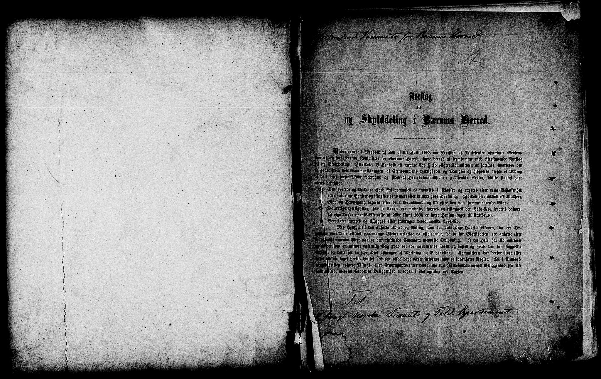 RA, Matrikkelrevisjonen av 1863, F/Fe/L0029: Bærum, 1863